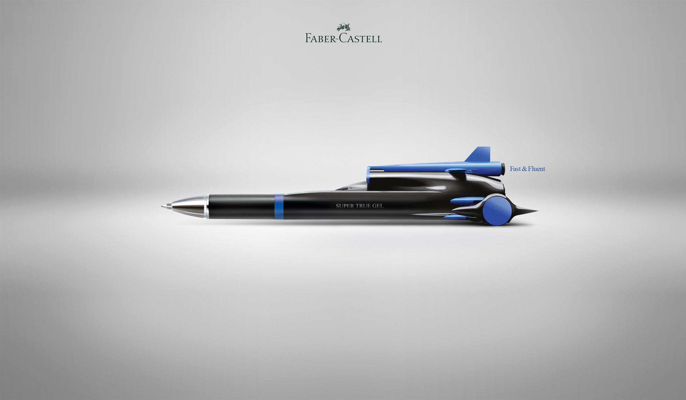 Faber-Castell Print Ad - Super True Gel, 3
