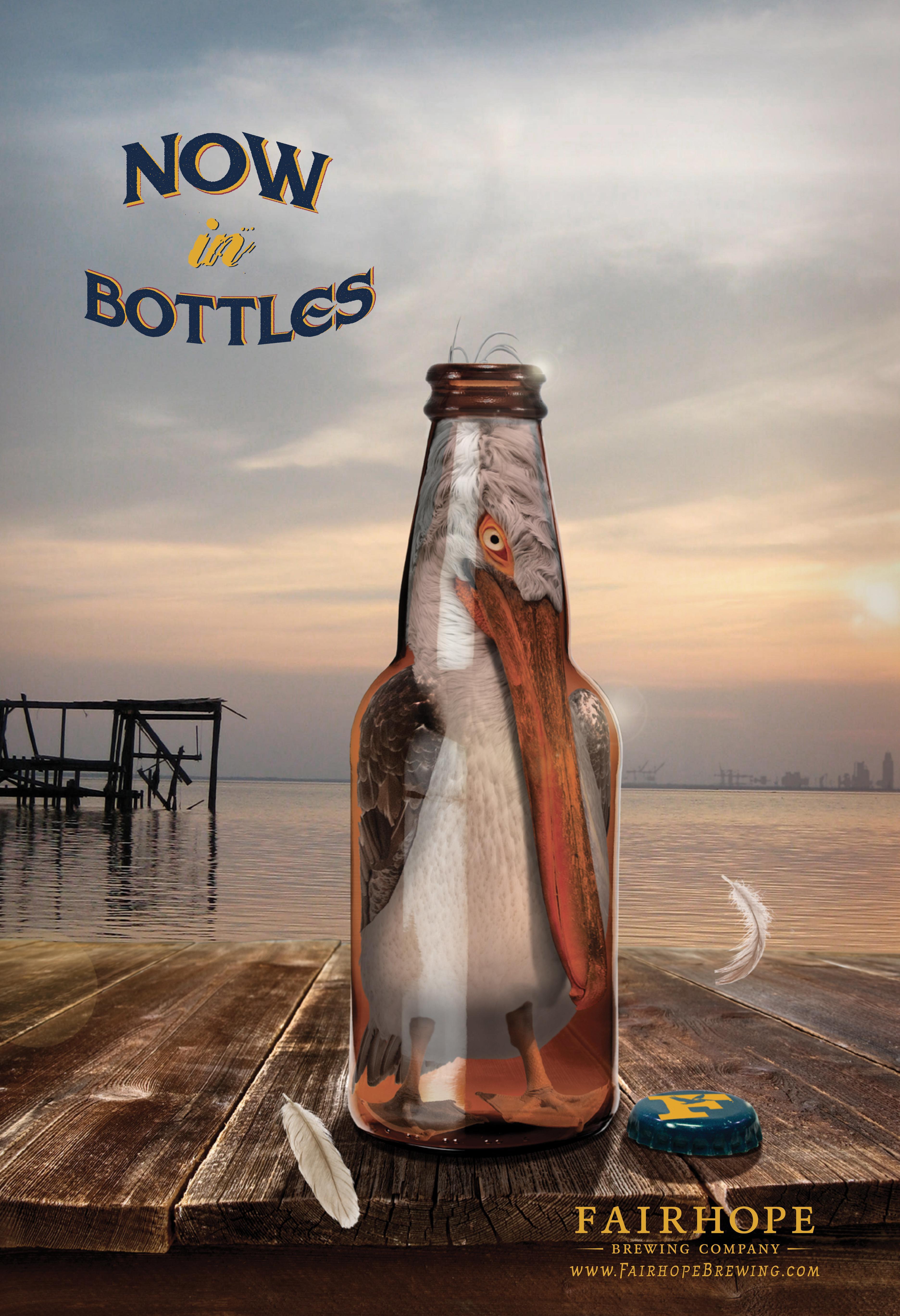 Fairhope Brewing Print Ad - Now in bottles
