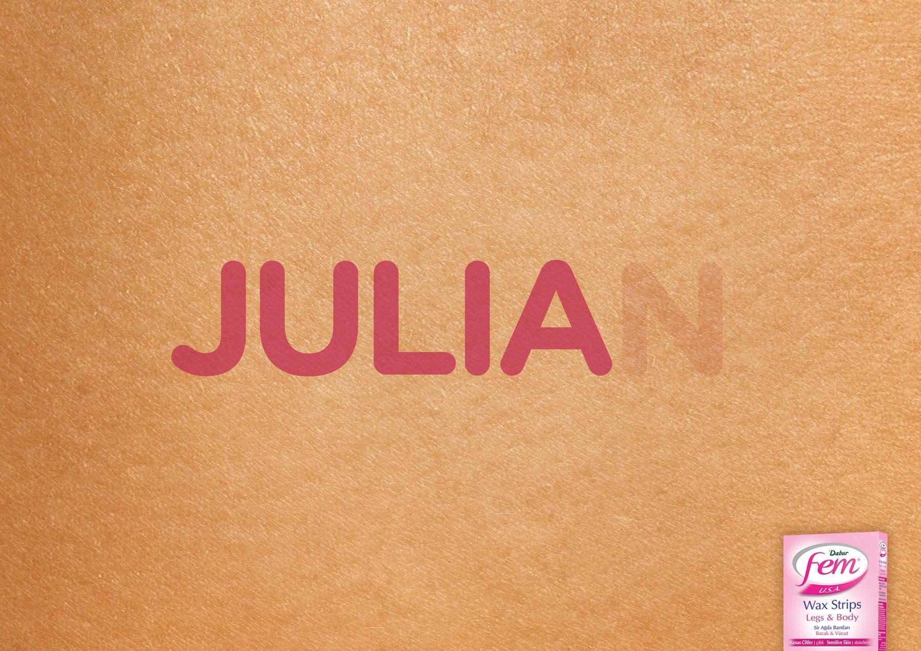 Fem Print Ad -  Julia
