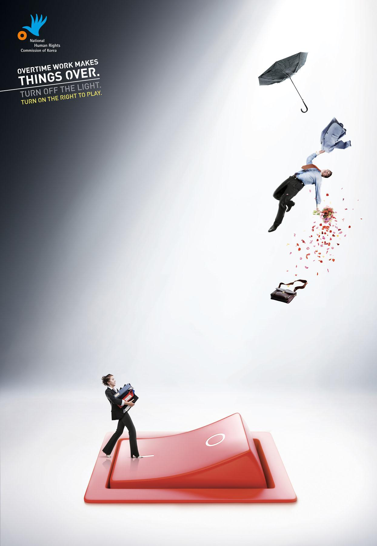 National Human Rights Commission of Korea Print Ad -  Overtime, 2