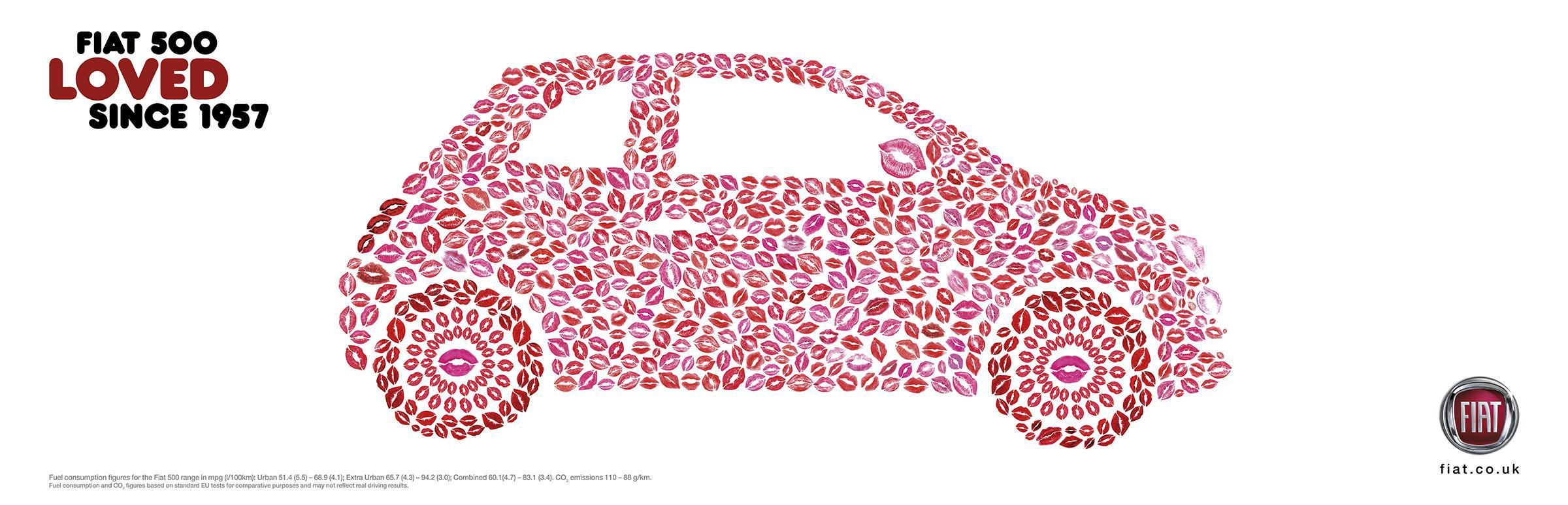 Fiat Outdoor Ad - Kisses