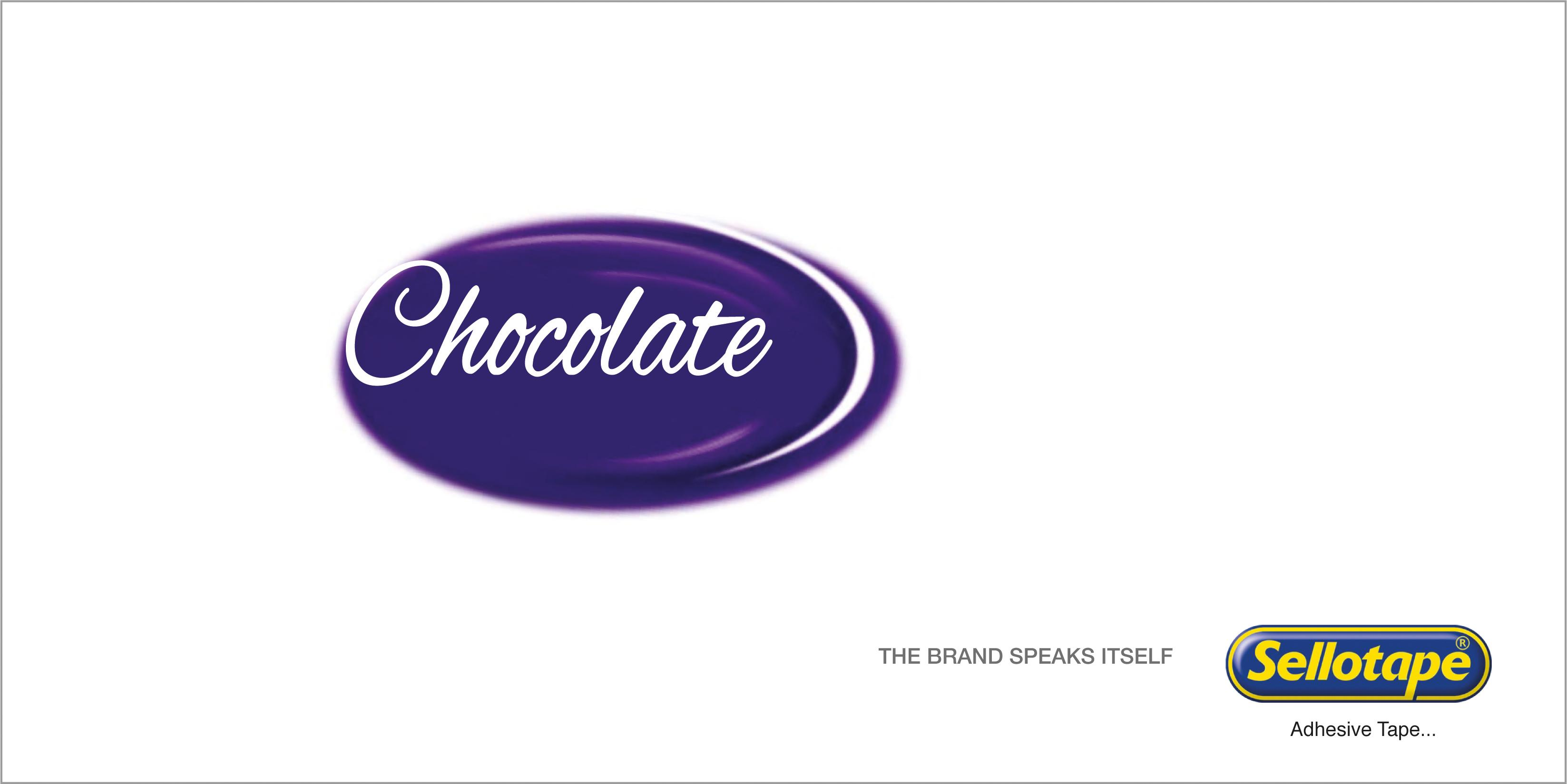 Sellotape Print Ad - Chocolate