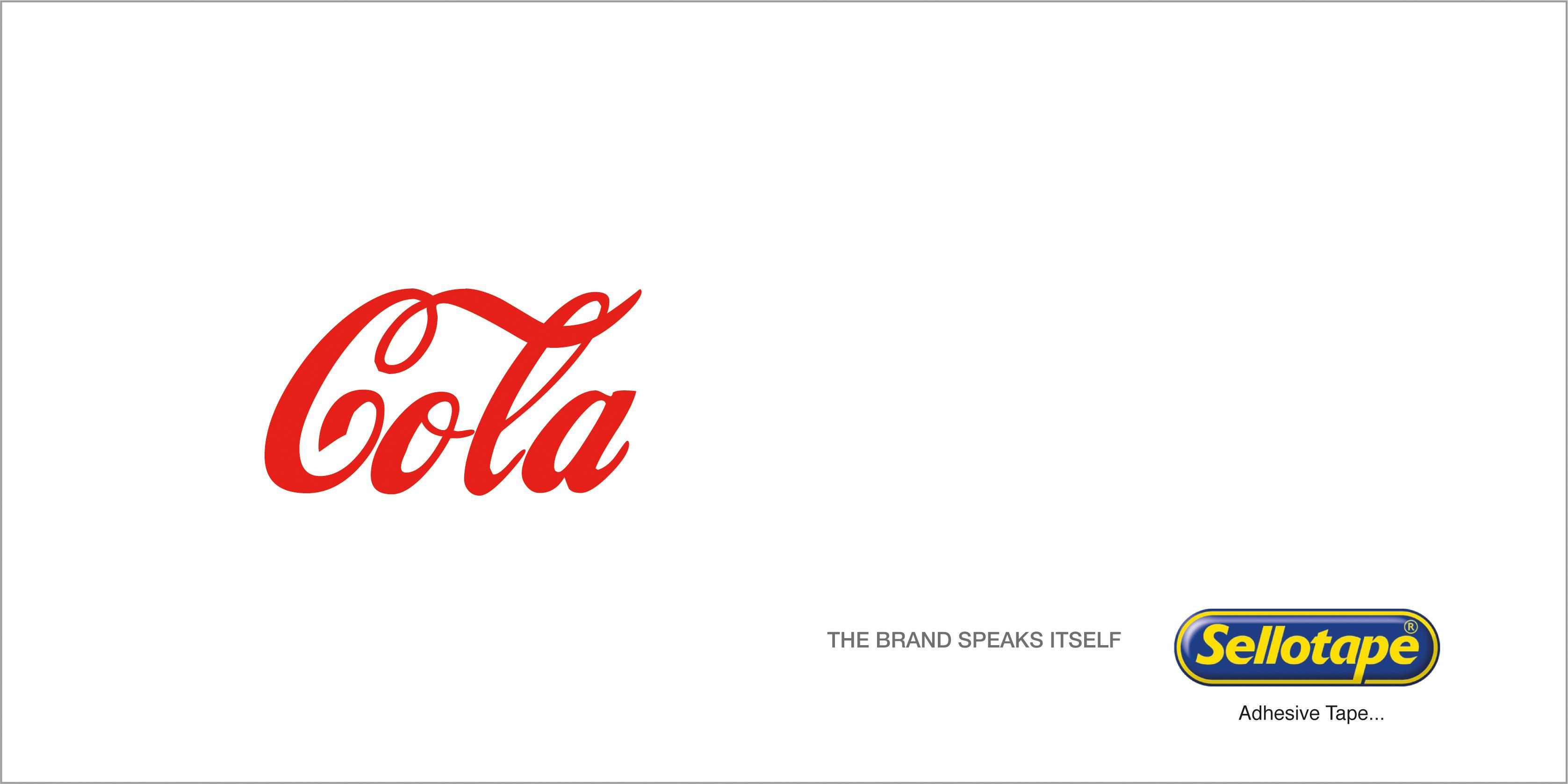 Sellotape Print Ad - Cola
