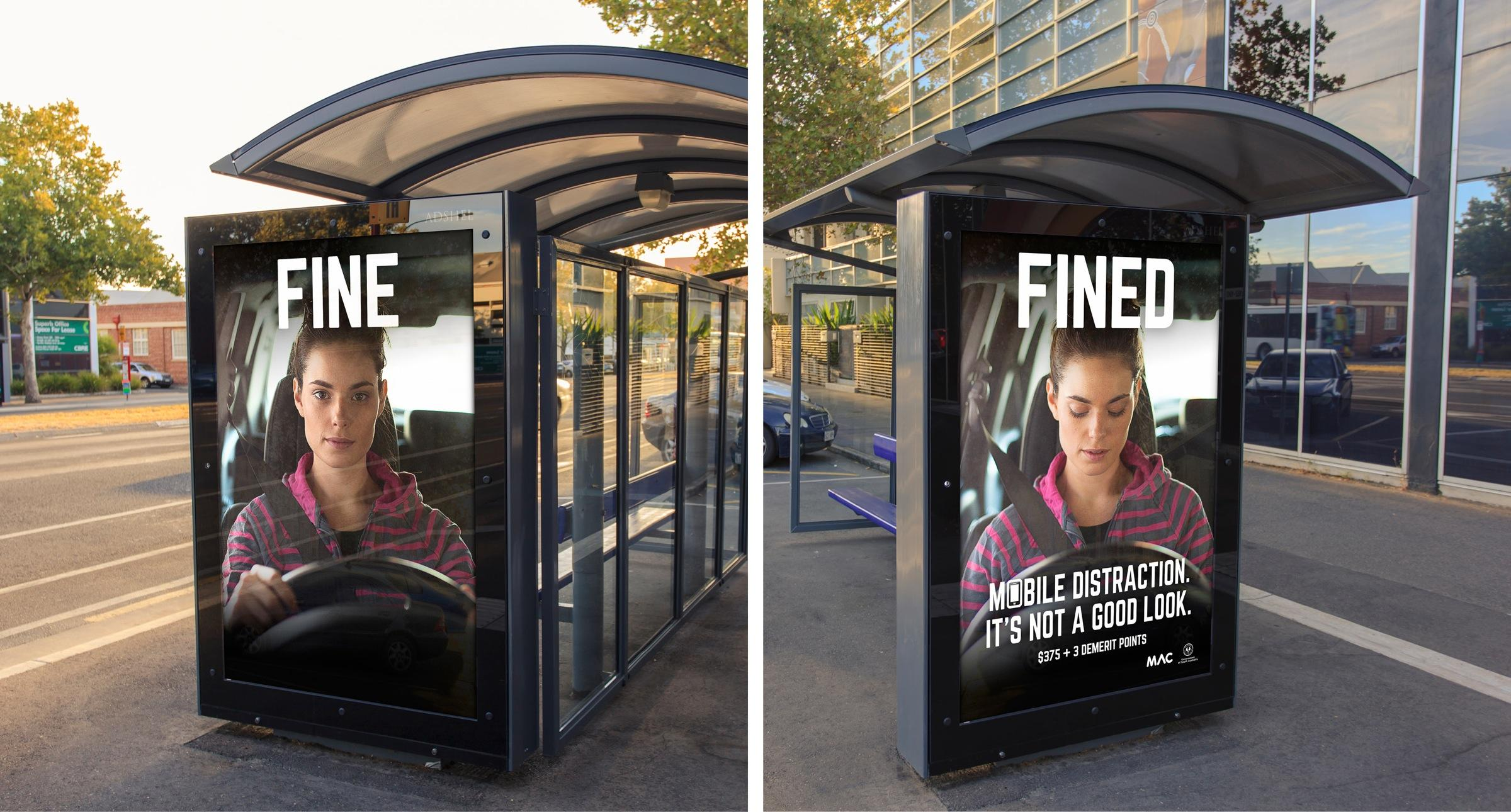 Motor Accident Commission of South Australia Outdoor Ad -  Fine / Fined