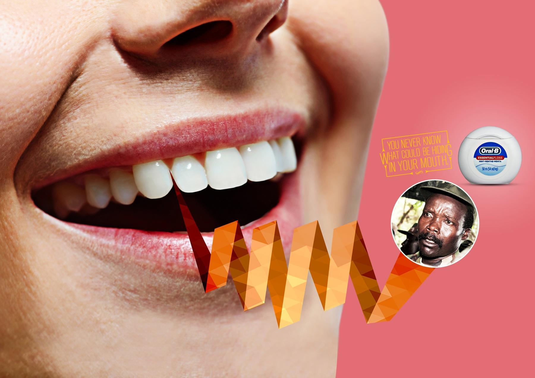 Oral-B Print Ad -  Hiding, 3