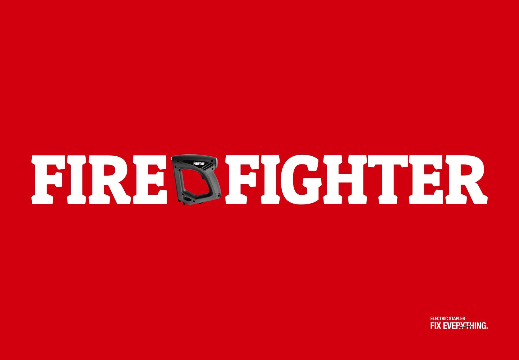 Powner Print Ad -  Firefighter