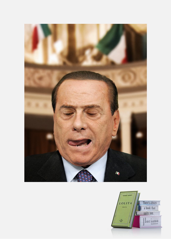 Floriano Bookstore Print Ad -  Berlusconi