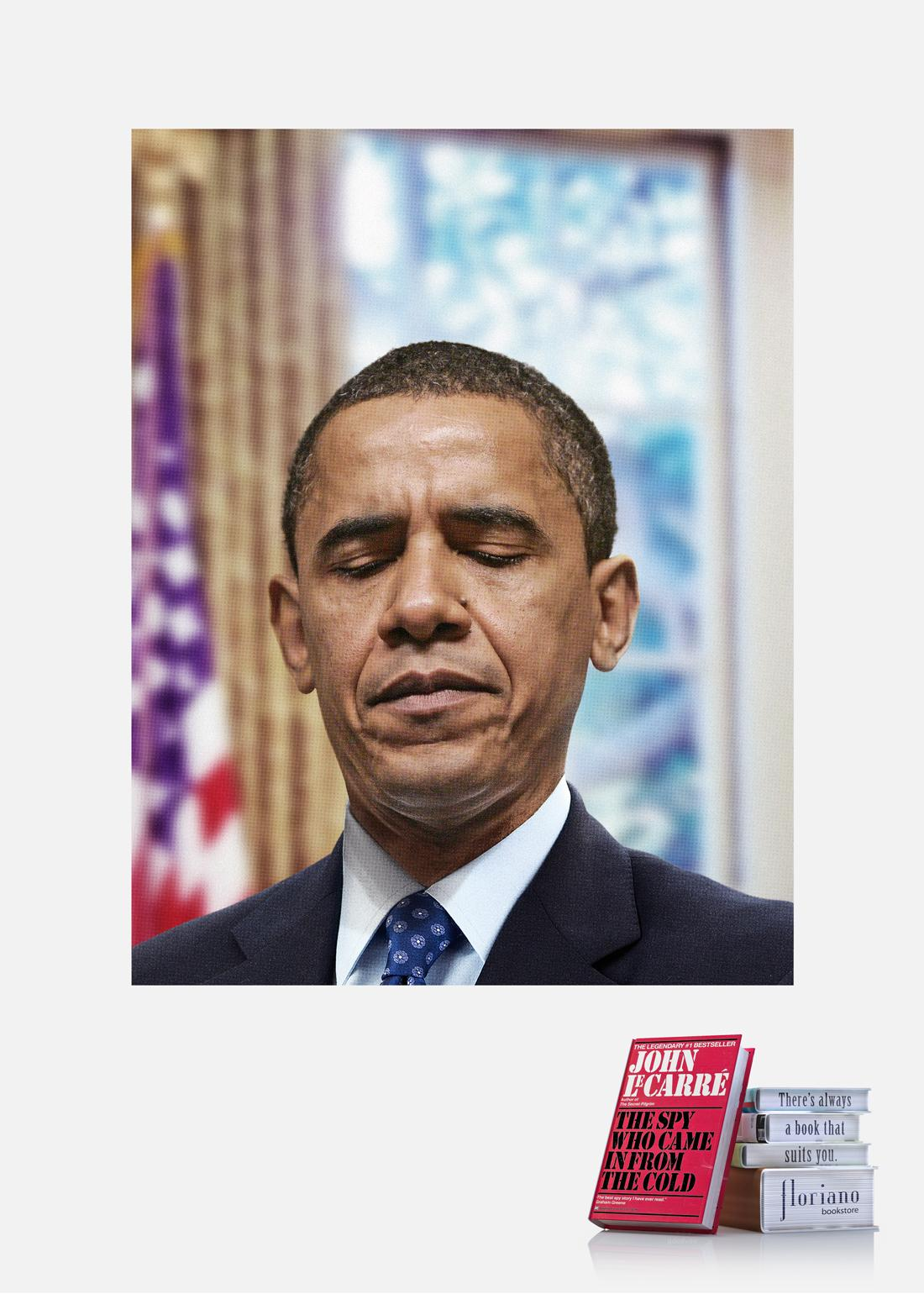 Floriano Bookstore Print Ad -  Obama