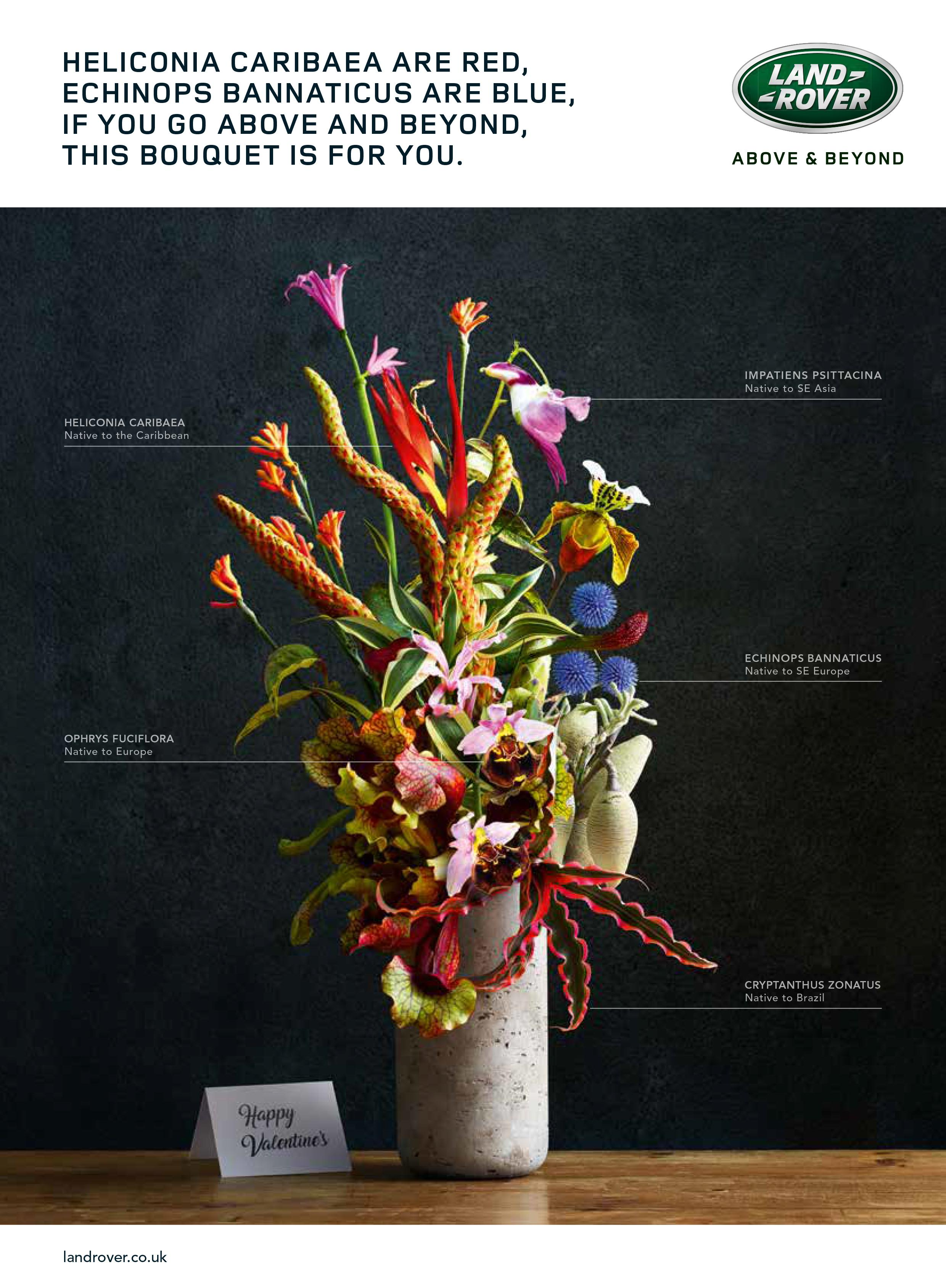 Land Rover Print Ad - Flowers