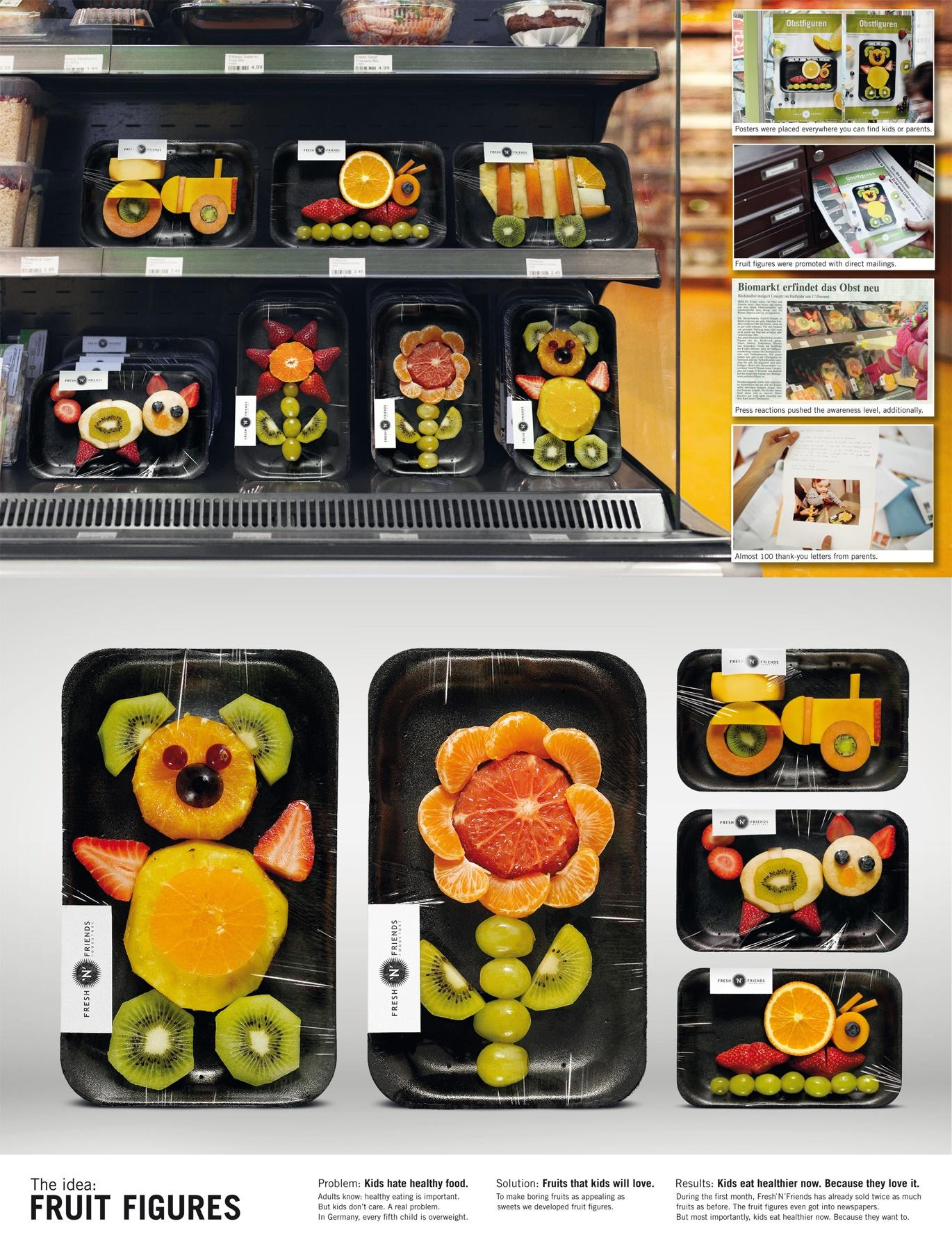 Fresh'N'Friends Ambient Ad -  Fruit Figures