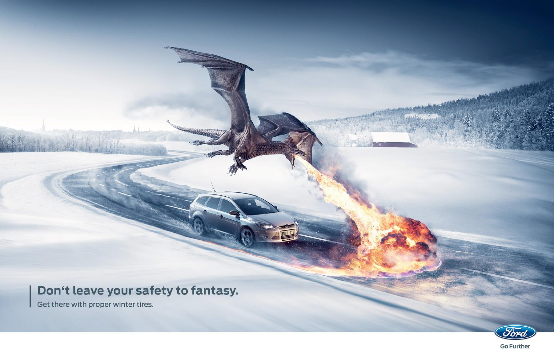 Ford Print Ad -  The Dragon Greppy