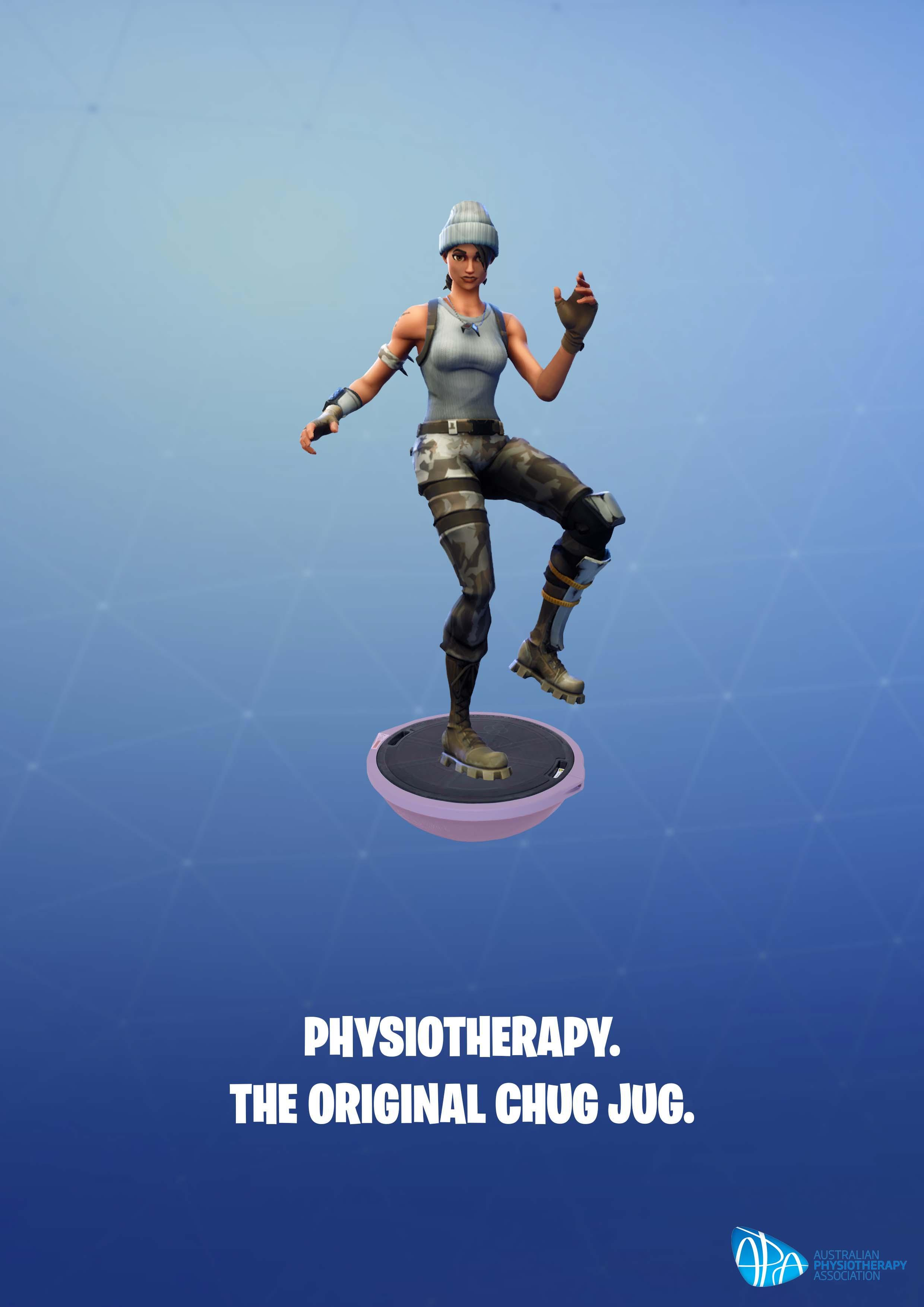 Australian Physiotherapy Association Print Ad - The Fortnite Physio, 2