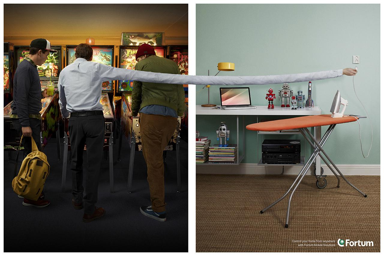 Fortum Print Ad -  Control your home from anywhere, 4