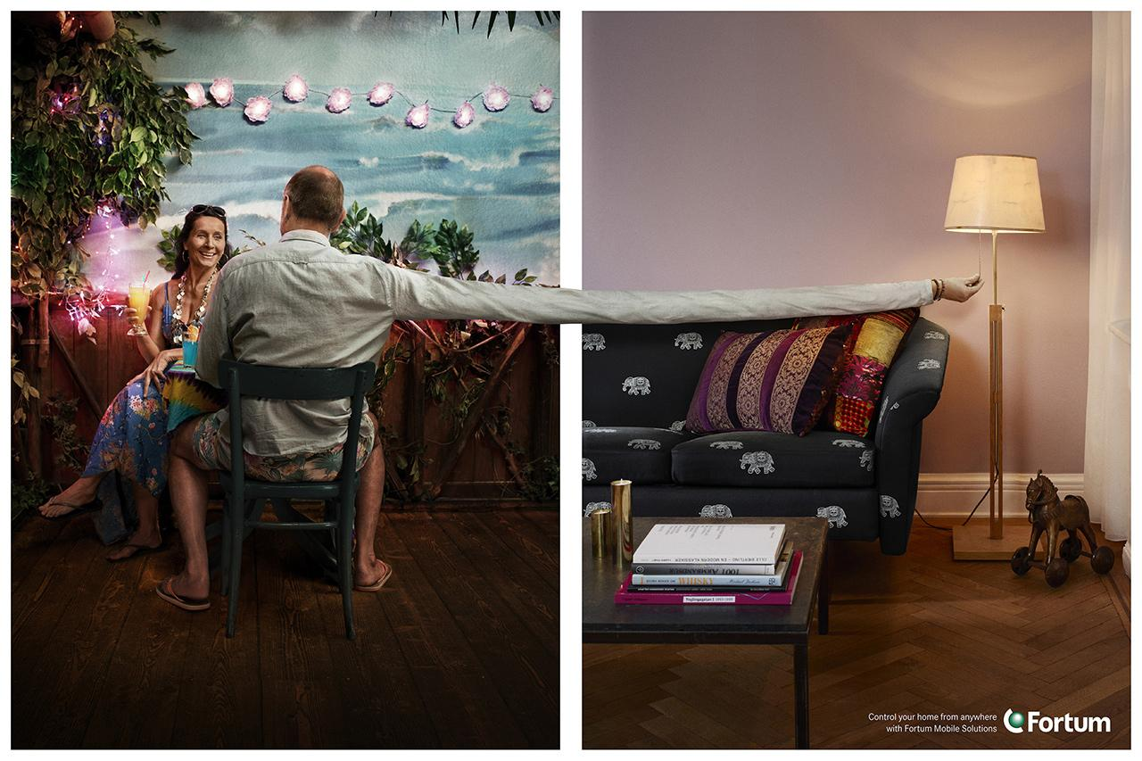Fortum Print Ad -  Control your home from anywhere, 5
