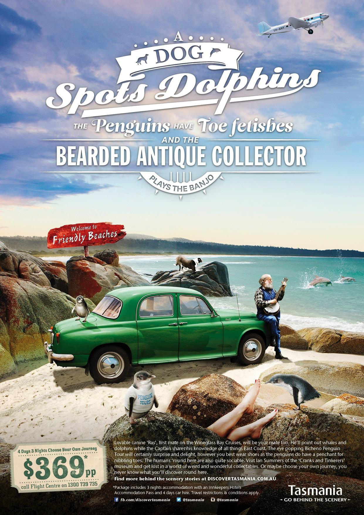 Tourism Tasmania Print Ad -  Toe fetish