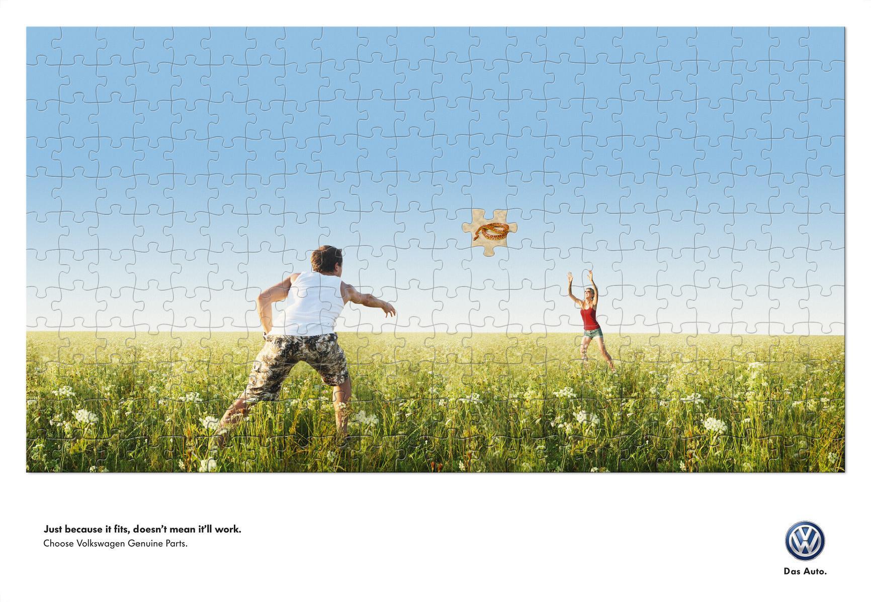 Volkswagen Outdoor Ad -  Frisbee