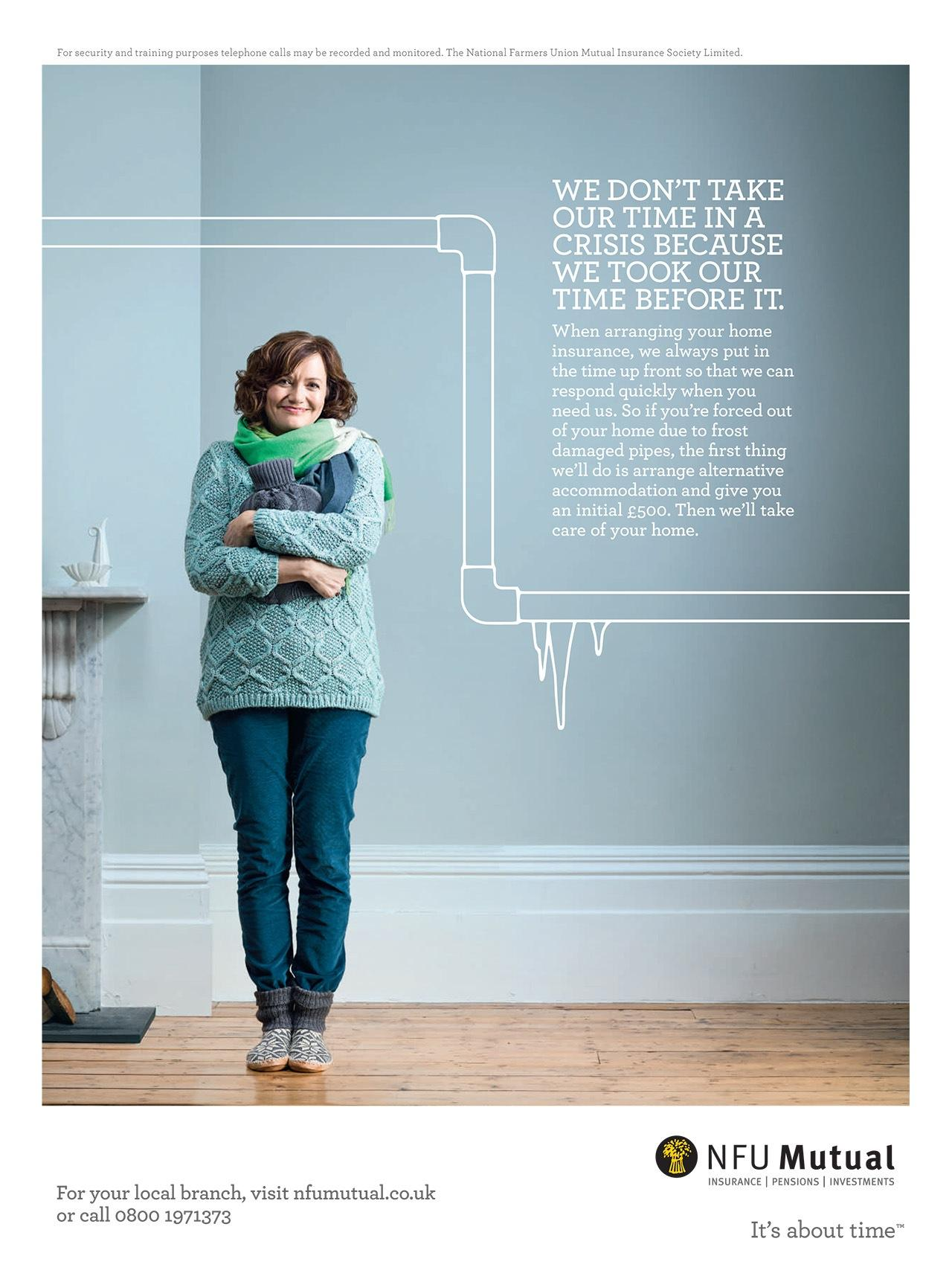 NFU Mutual Print Ad -  Crisis