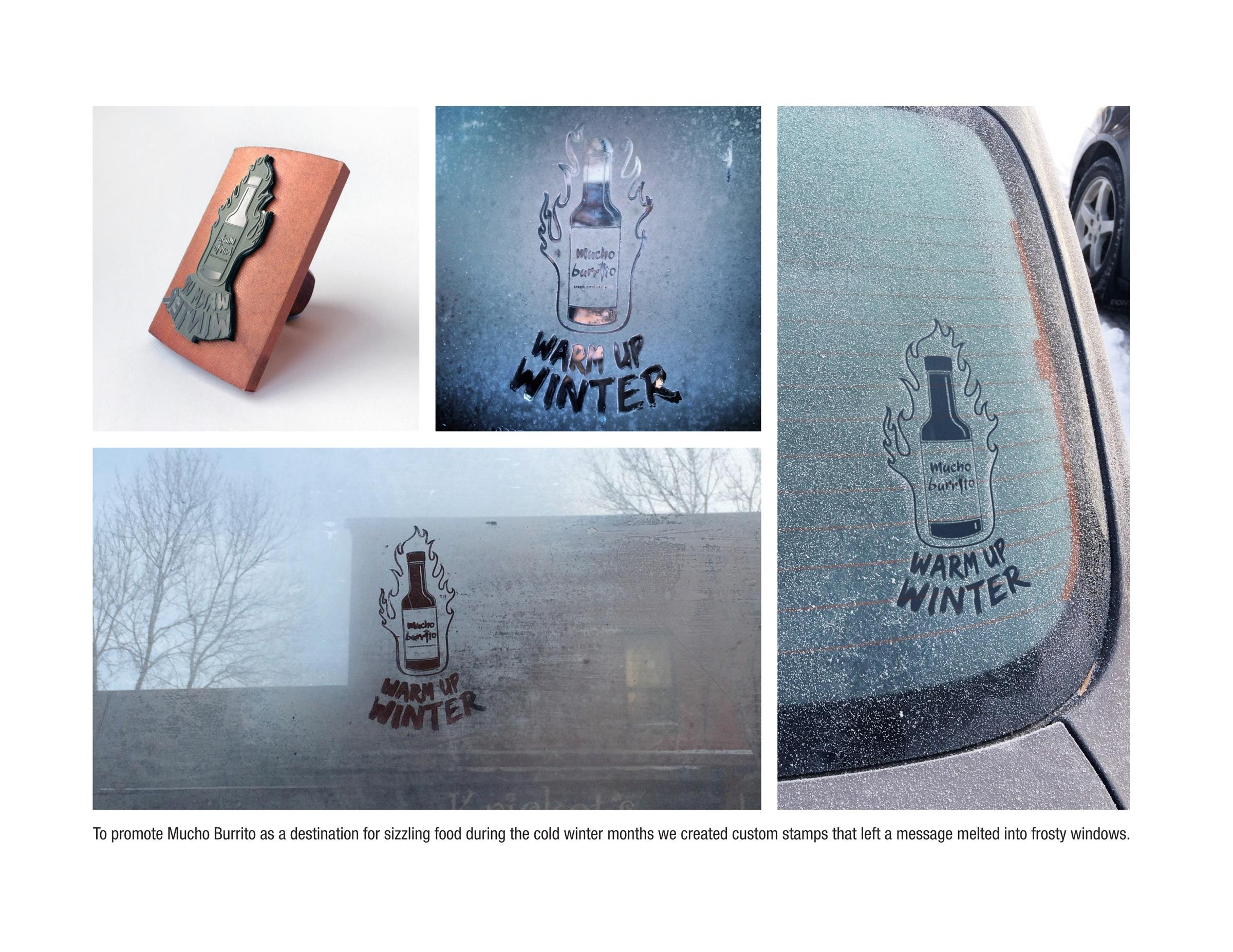 Mucho Burrito Ambient Ad -  Frost Stamp