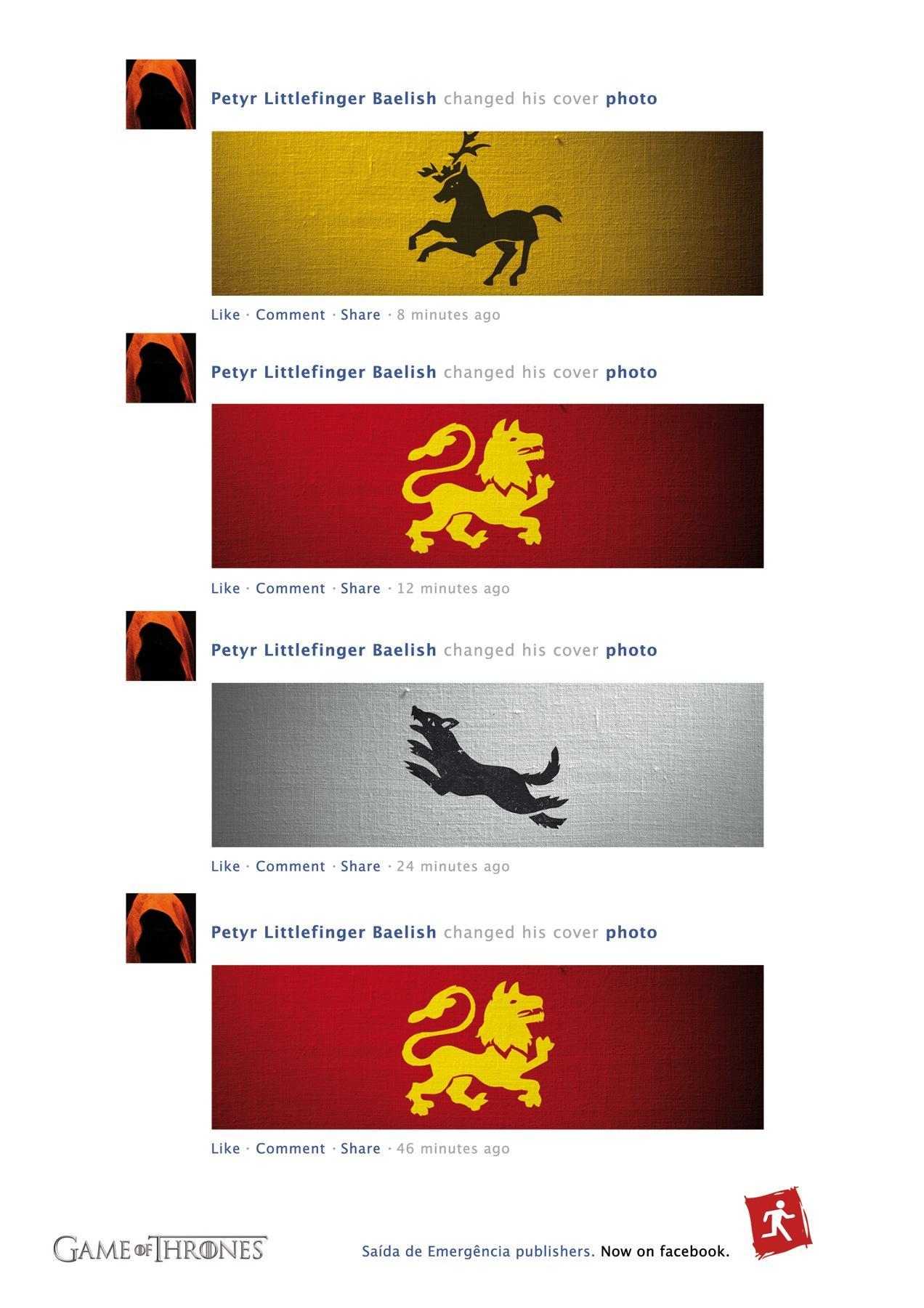 Saída de Emergência Print Ad -  Now on Facebook, 3