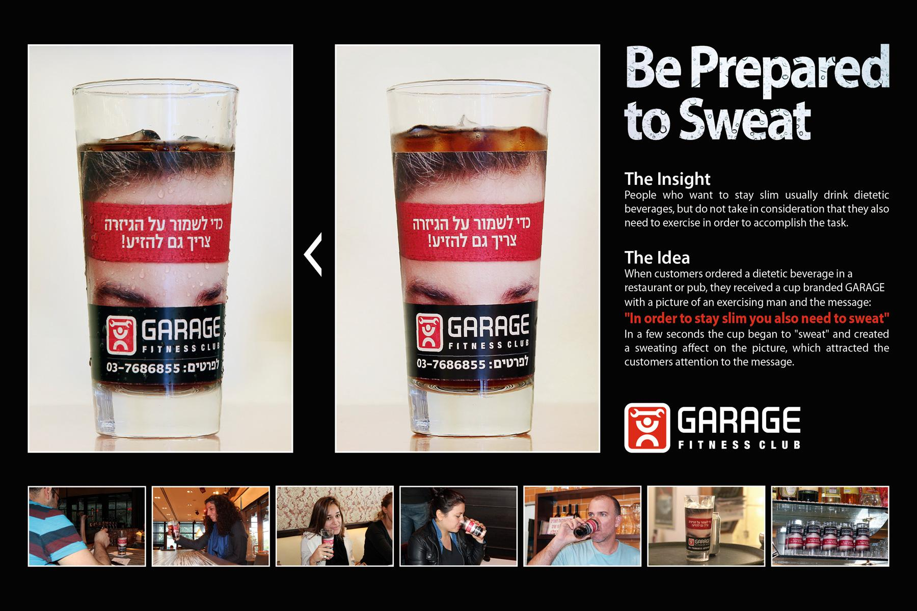 Garage Fitness Club Direct Ad -  Be prepared to sweat