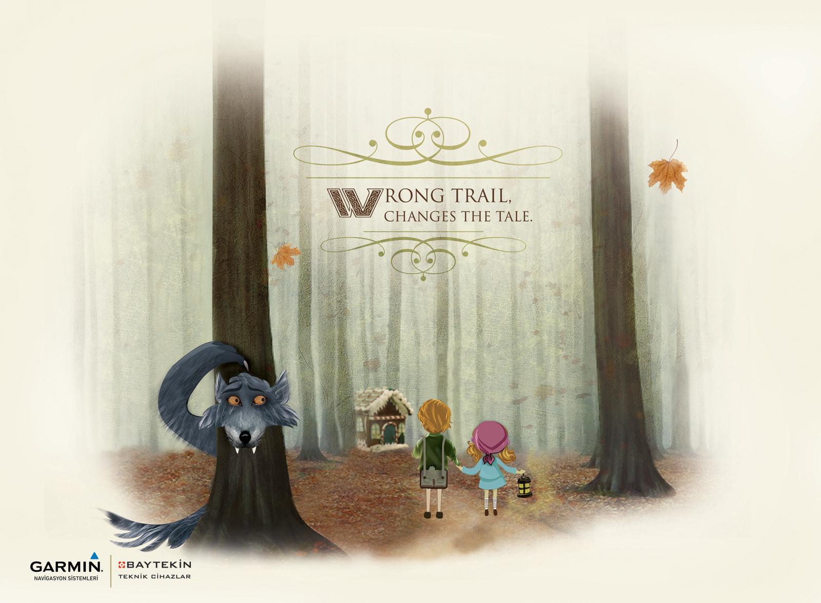 Garmin Print Ad -  Wrong trail, 2