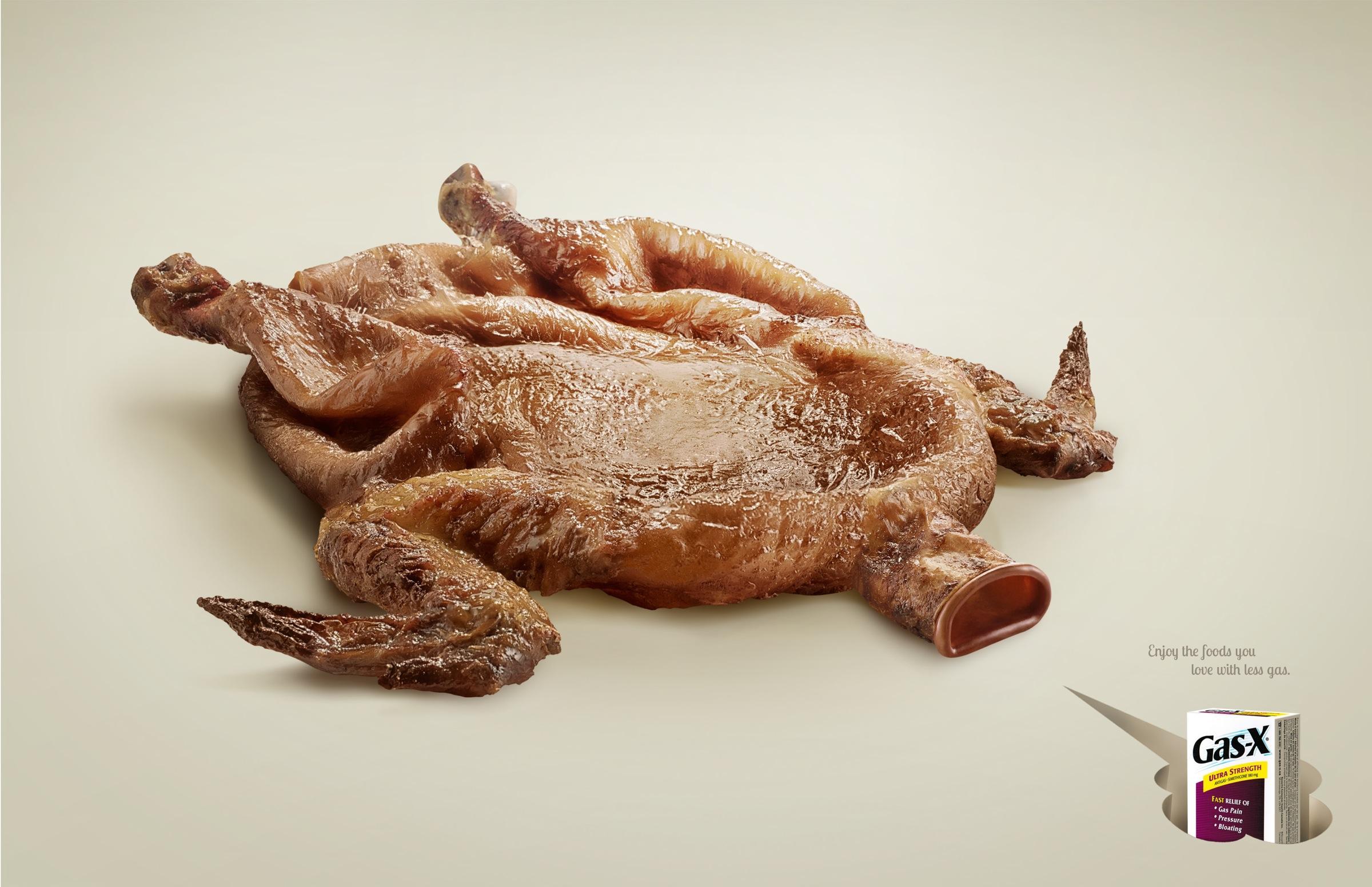 Gas-X Print Ad -  Chicken