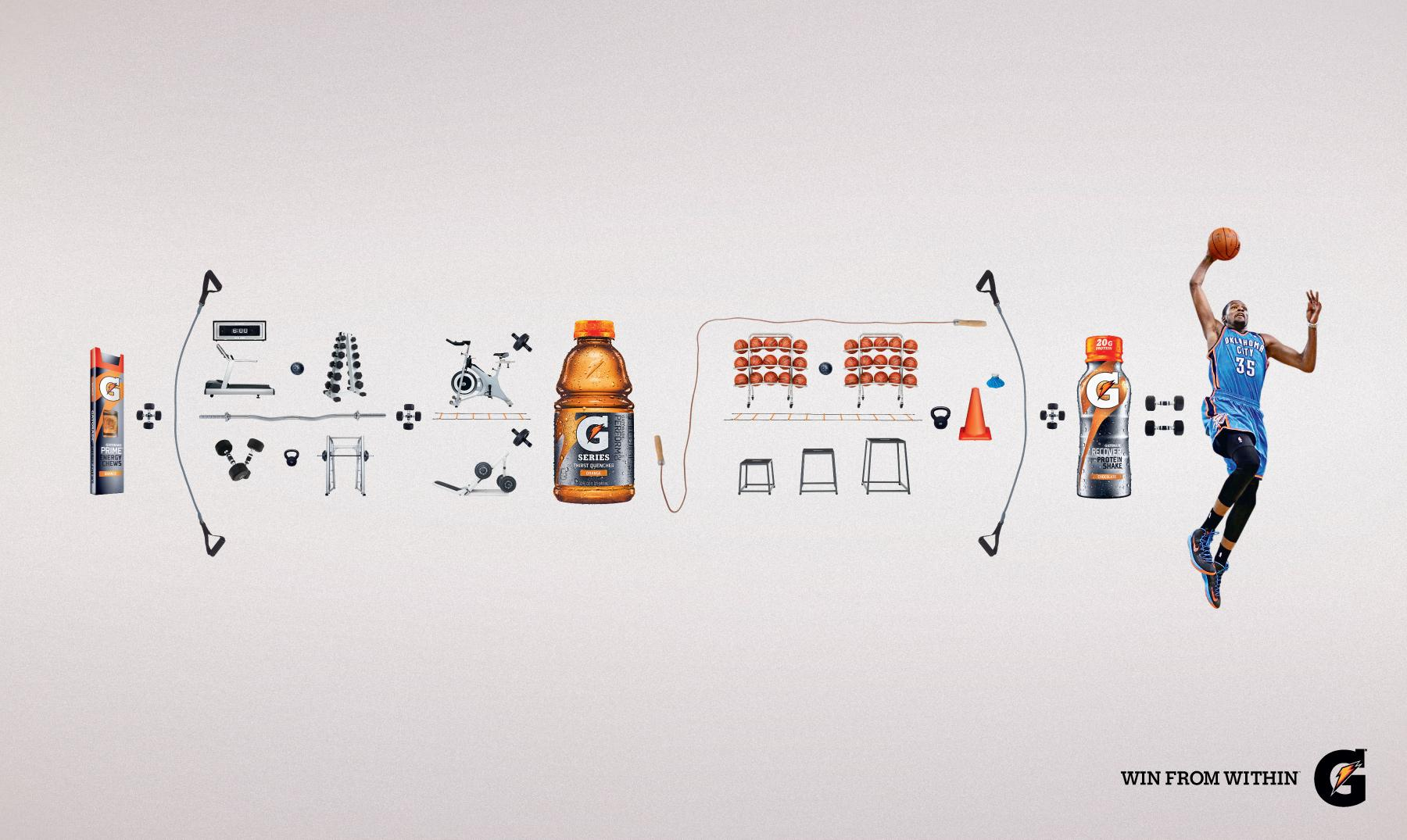 Gatorade Print Ad -  Equation