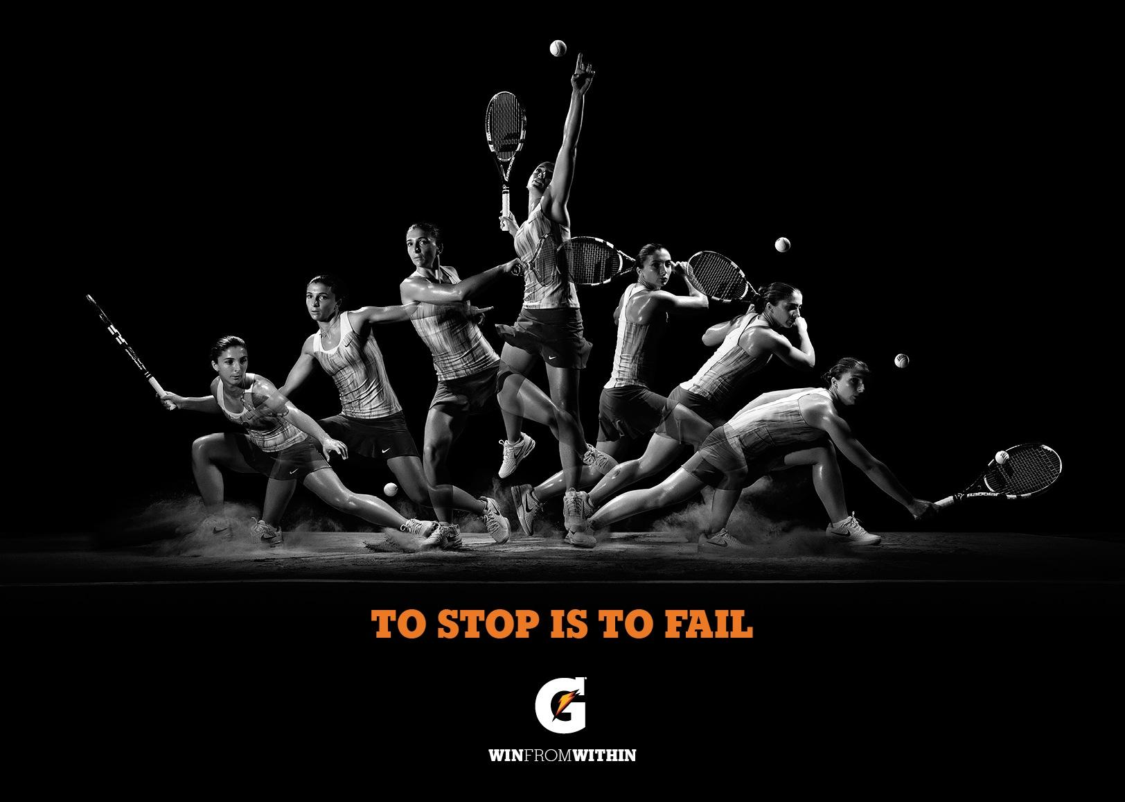 Gatorade Print Ad -  To stop is to fail, 2