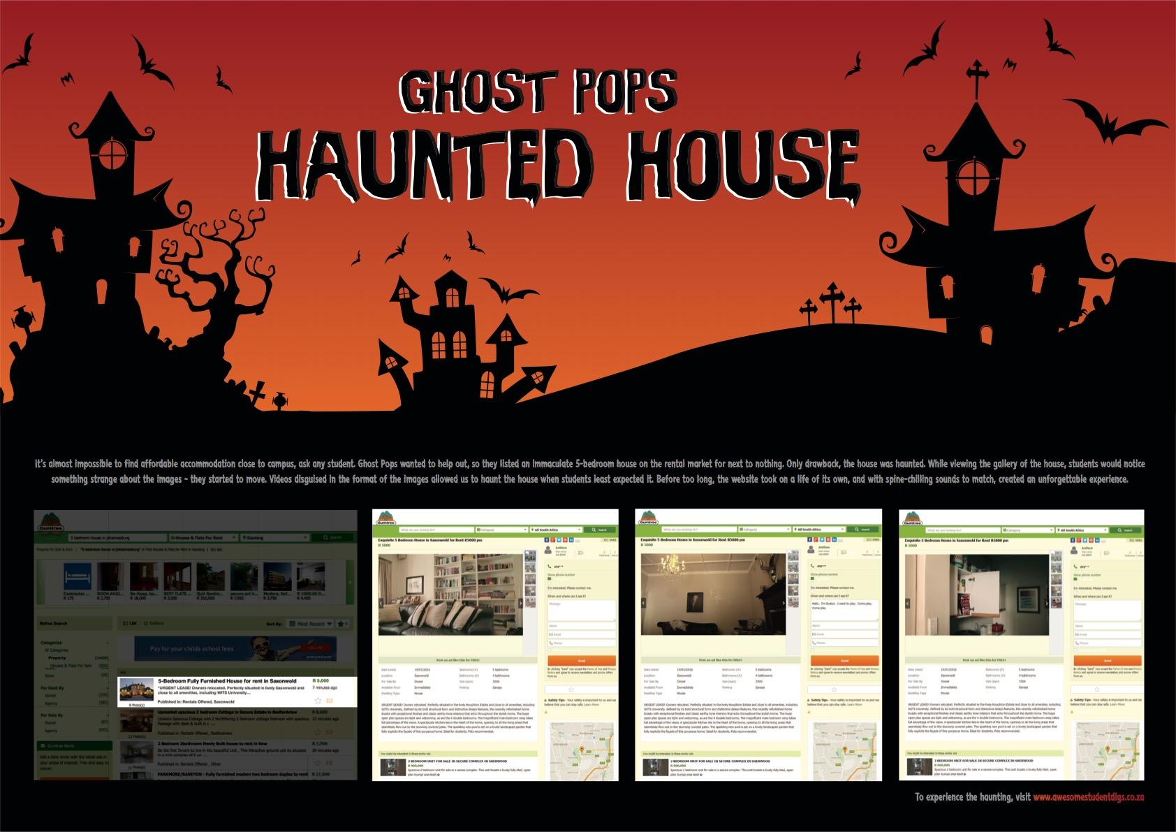 Ghost Pops Digital Advert By MC Saatchi Haunted House