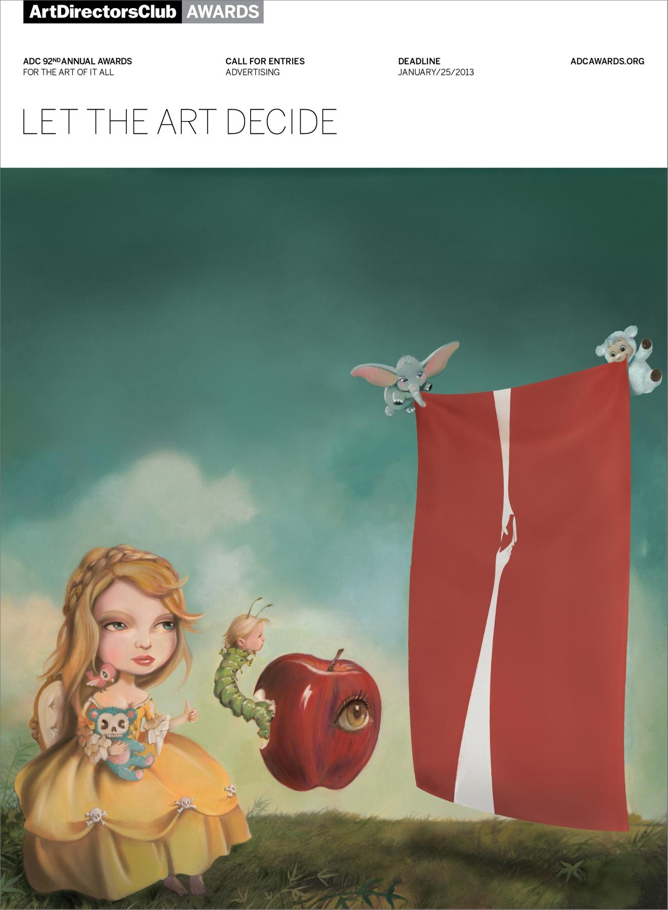 Art Directors Club Print Ad -  Let The Art Decide, Girl