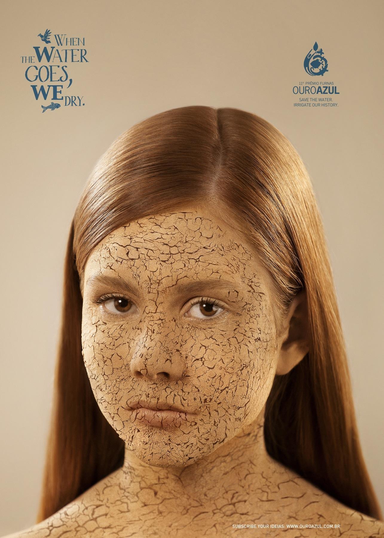 Ouro Azul Print Ad -  Face, 2