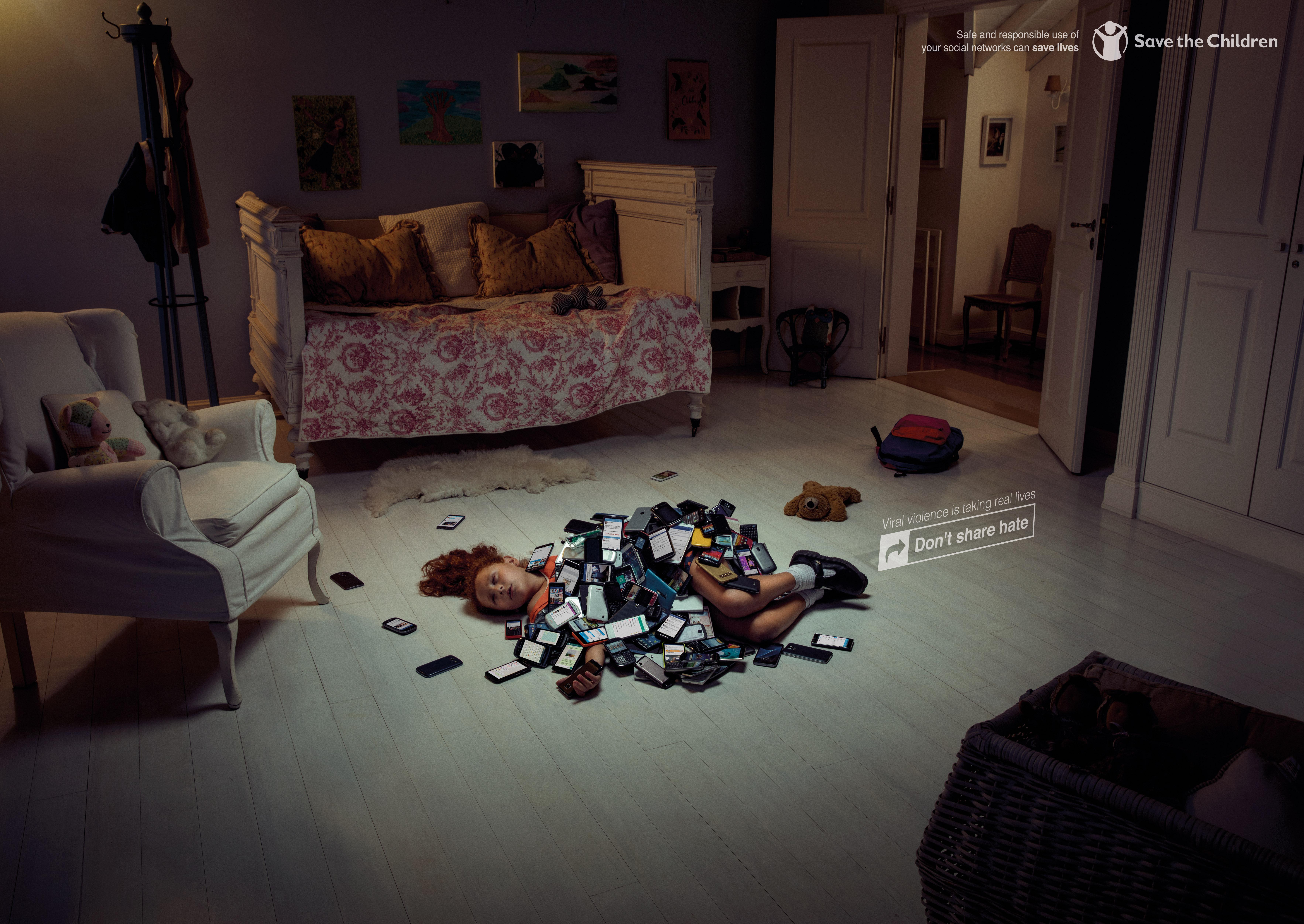 Save the Children Print Ad - Girl Room