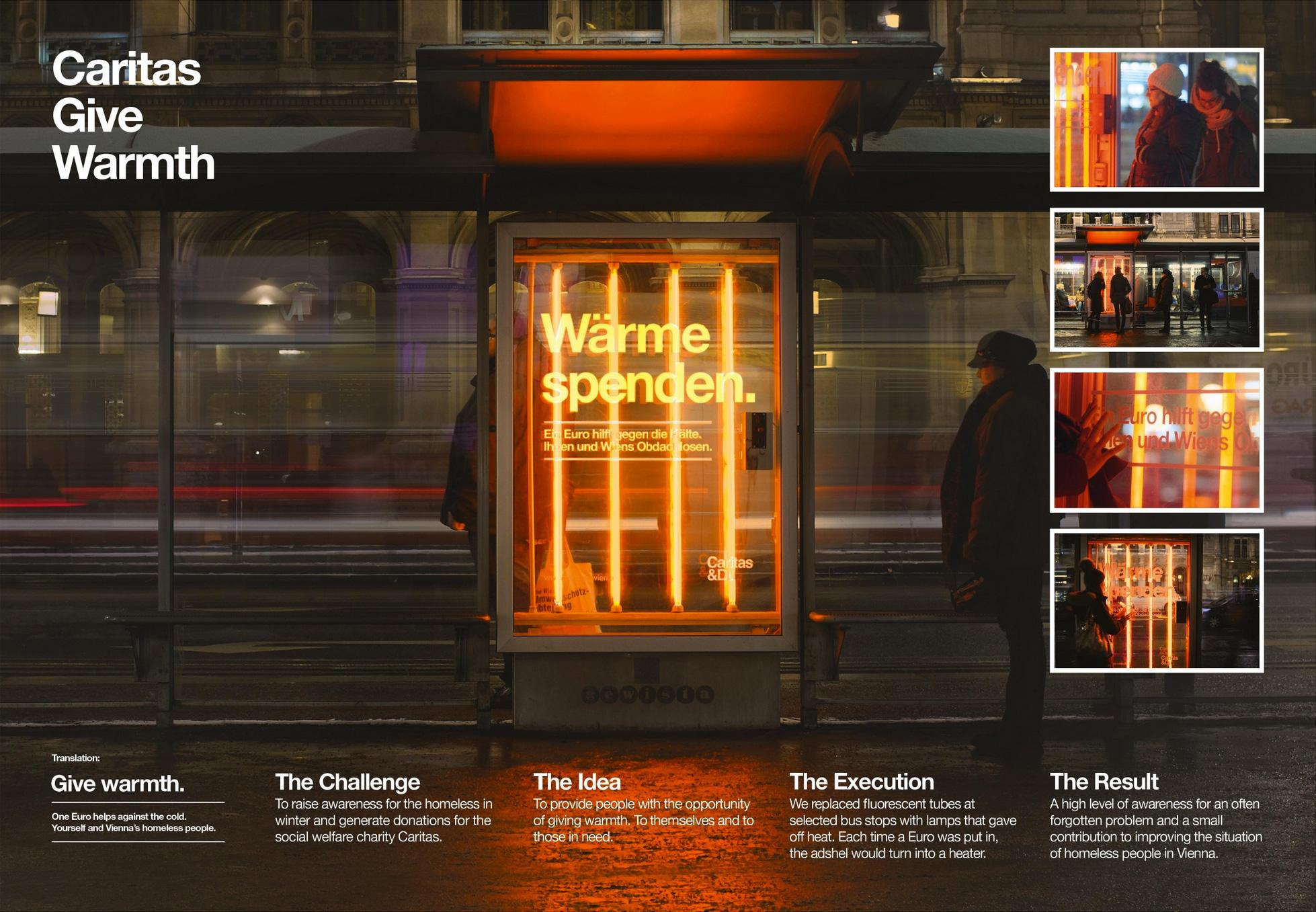 Caritas Outdoor Ad -  Give warmth