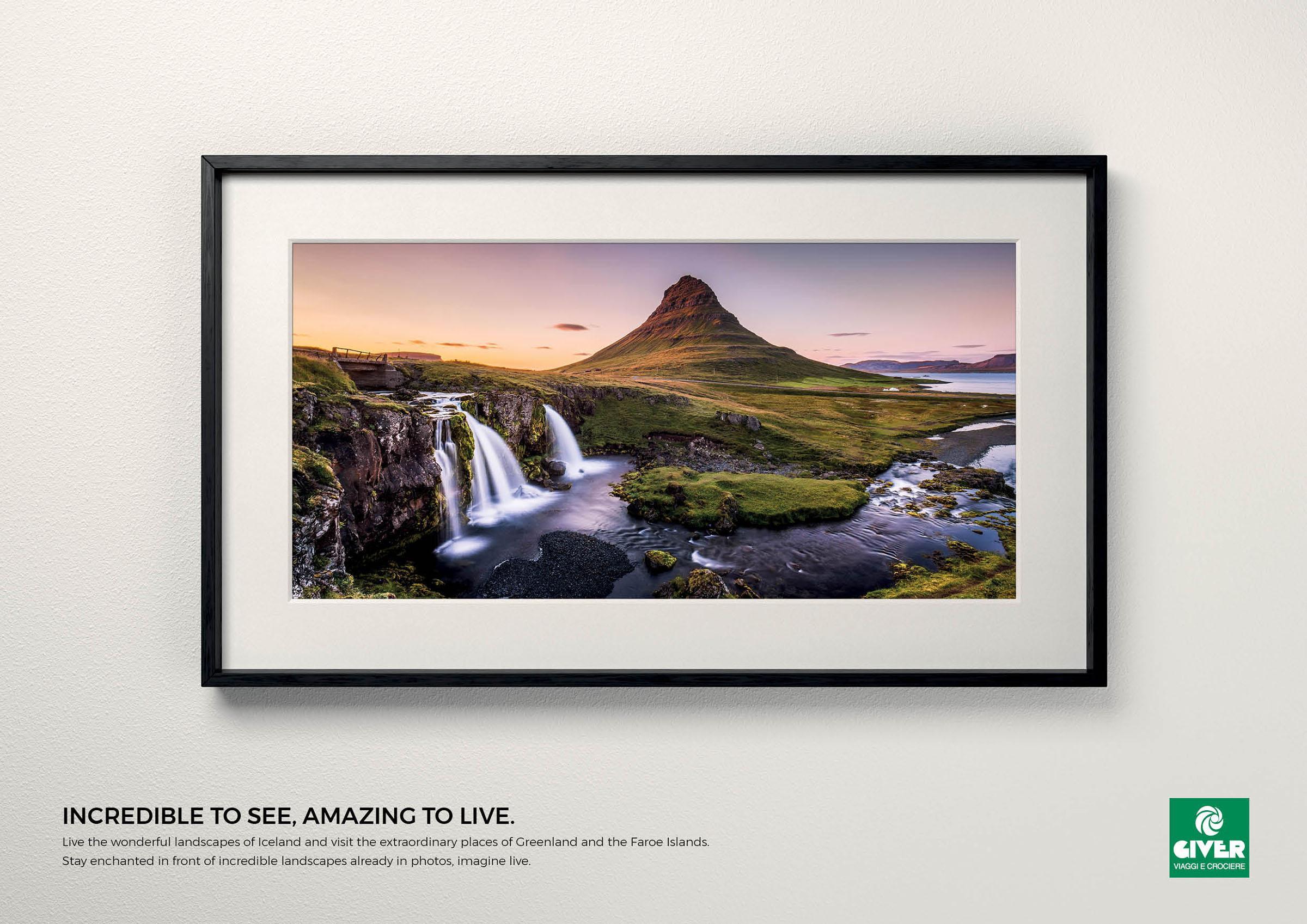 Giver Viaggi Print Ad - Travel Masterpiece, Iceland