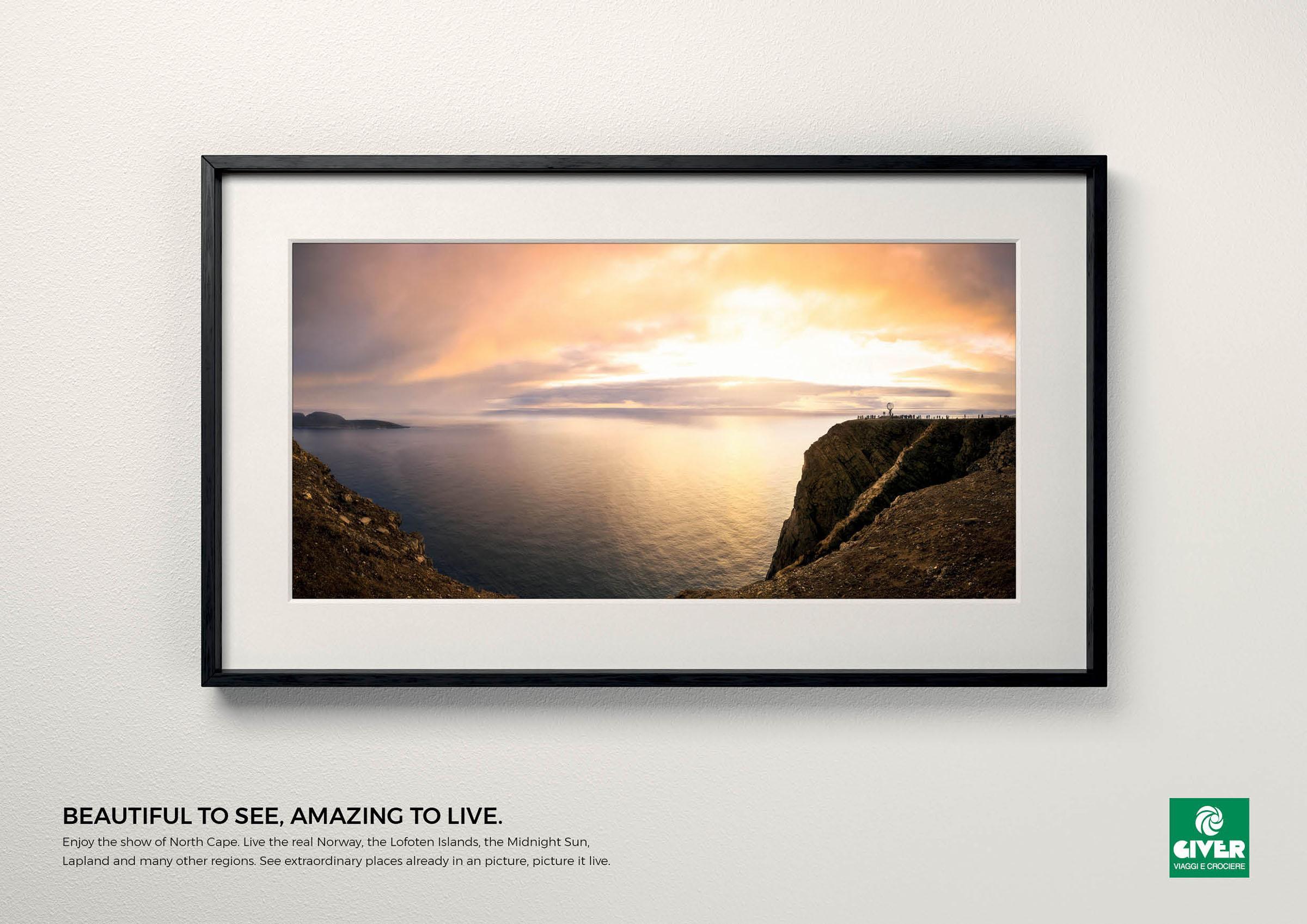 Giver Viaggi Print Ad - Travel Masterpiece, North Cape