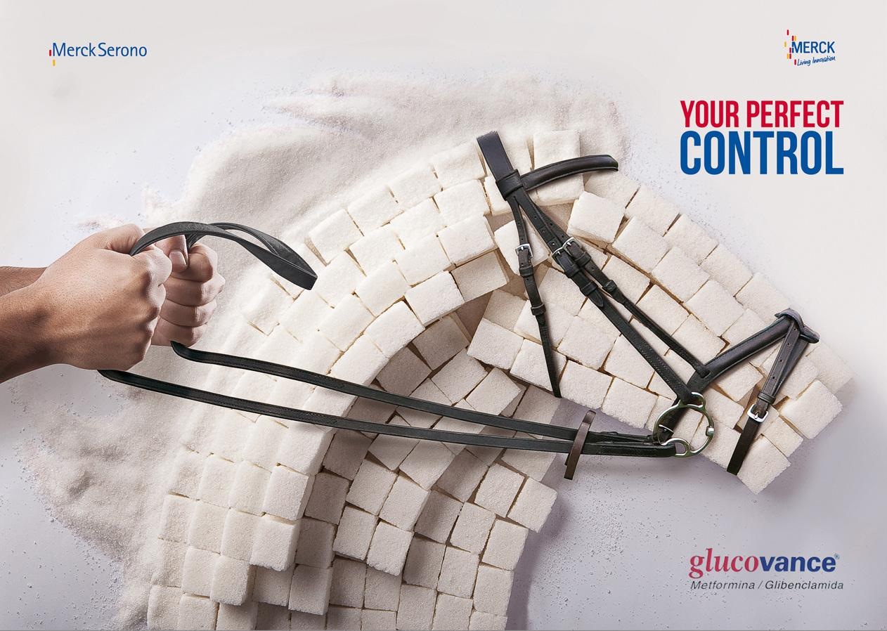 Glucovance Print Ad -  Your perfect control