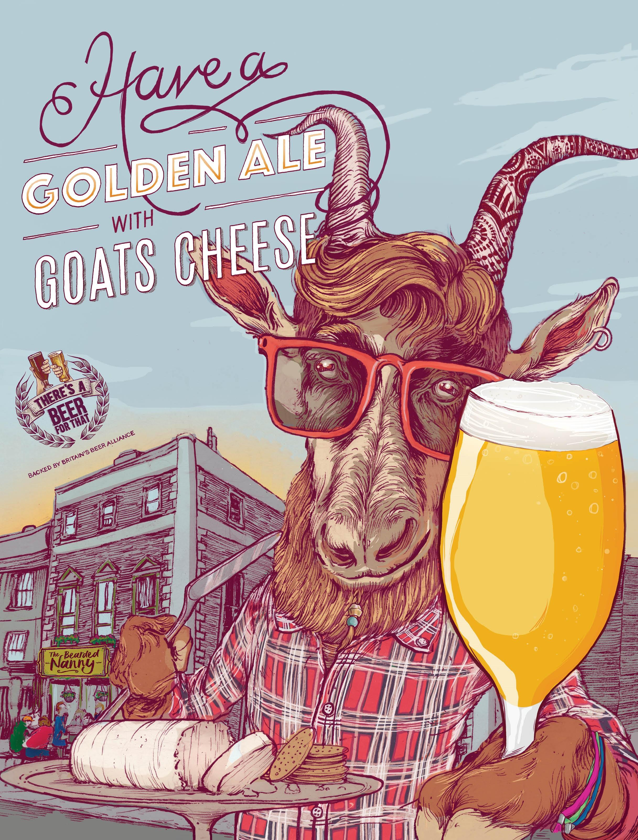 Britain's Beer Alliance Print Ad - Goat