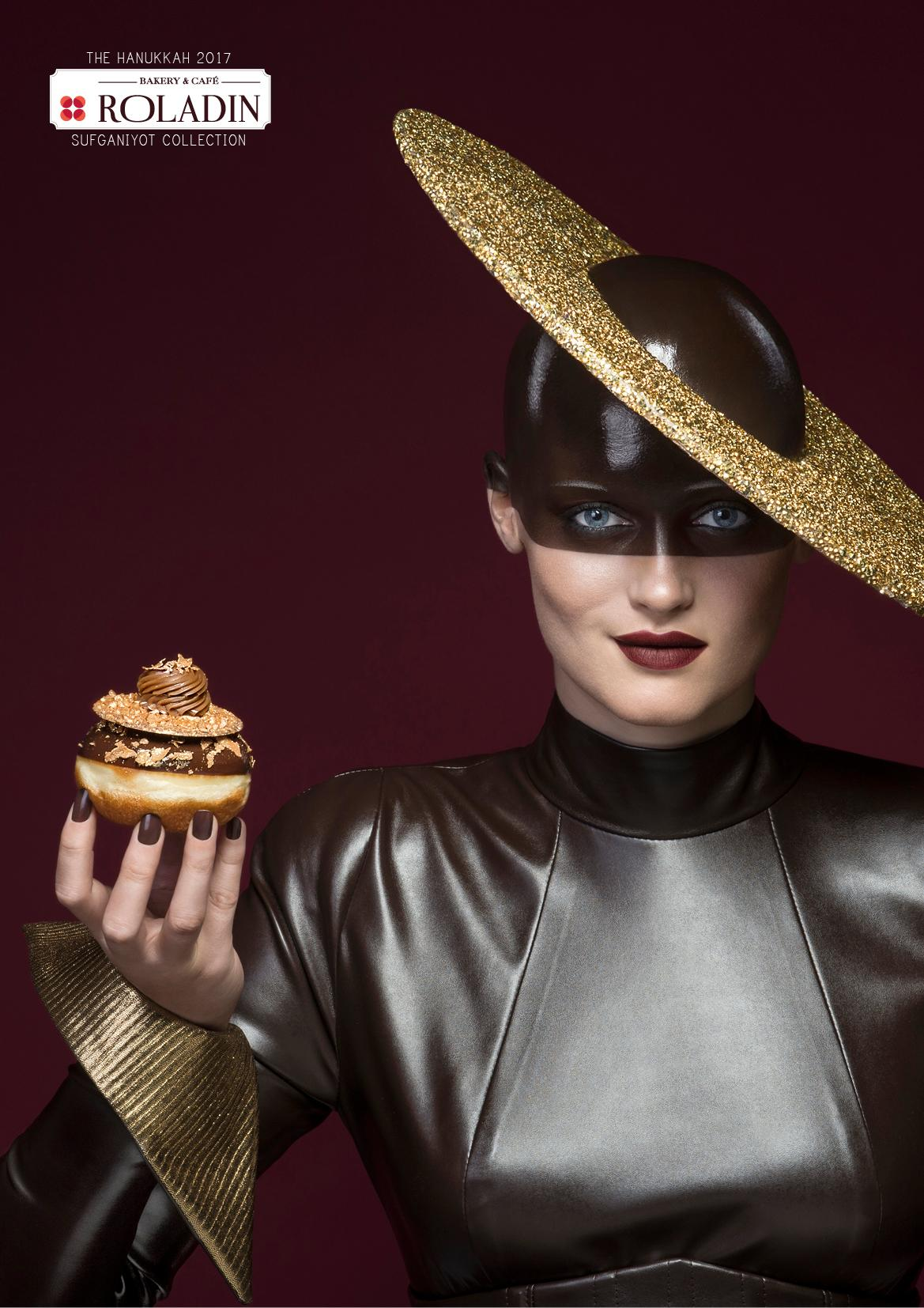 Roladin Print Ad - 2017 Sufganiyot Collection - Gold