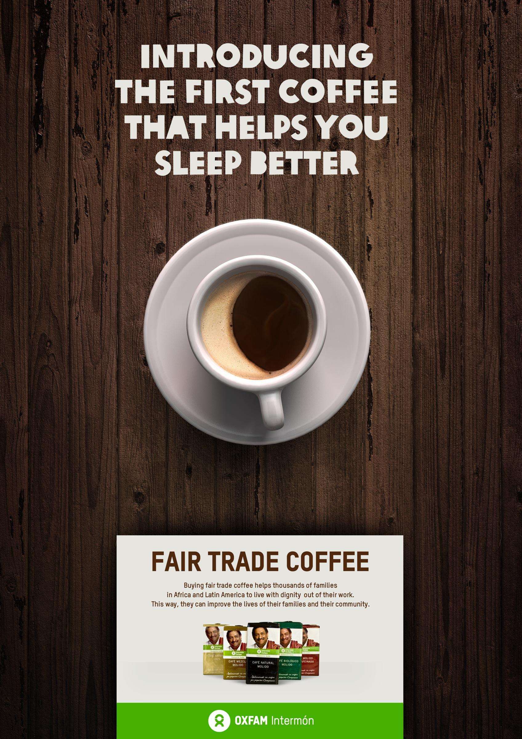 Oxfam Intermon Print Advert By Kitchen The Coffee That
