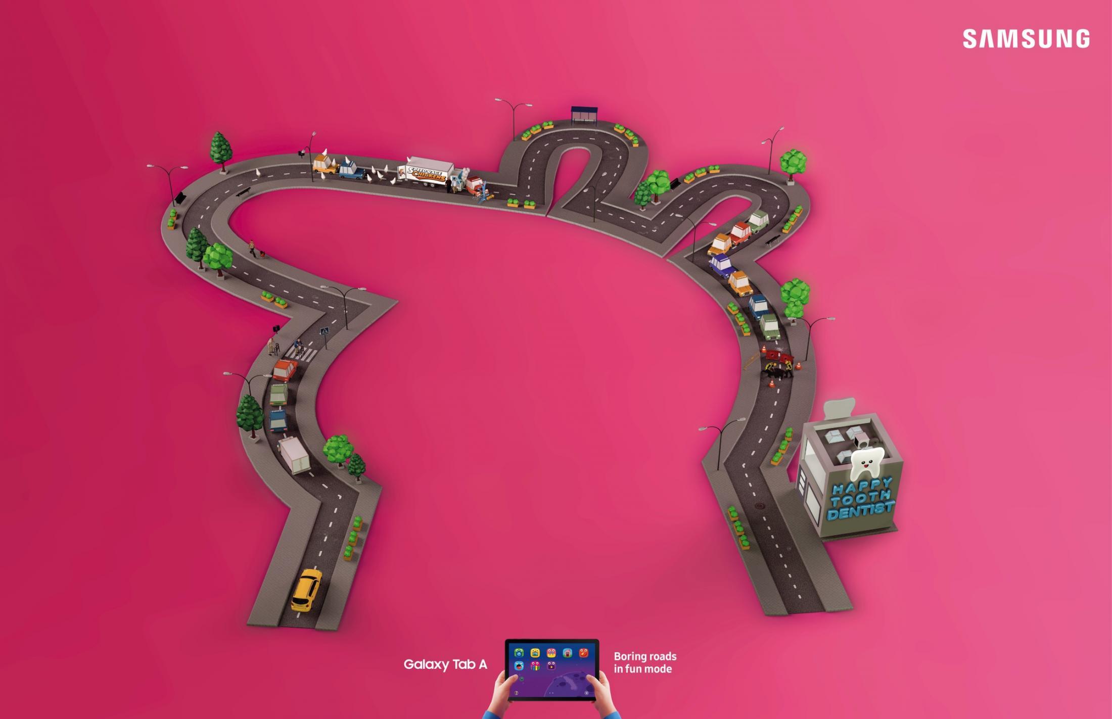 Samsung Print Ad - Funny Roads, 1