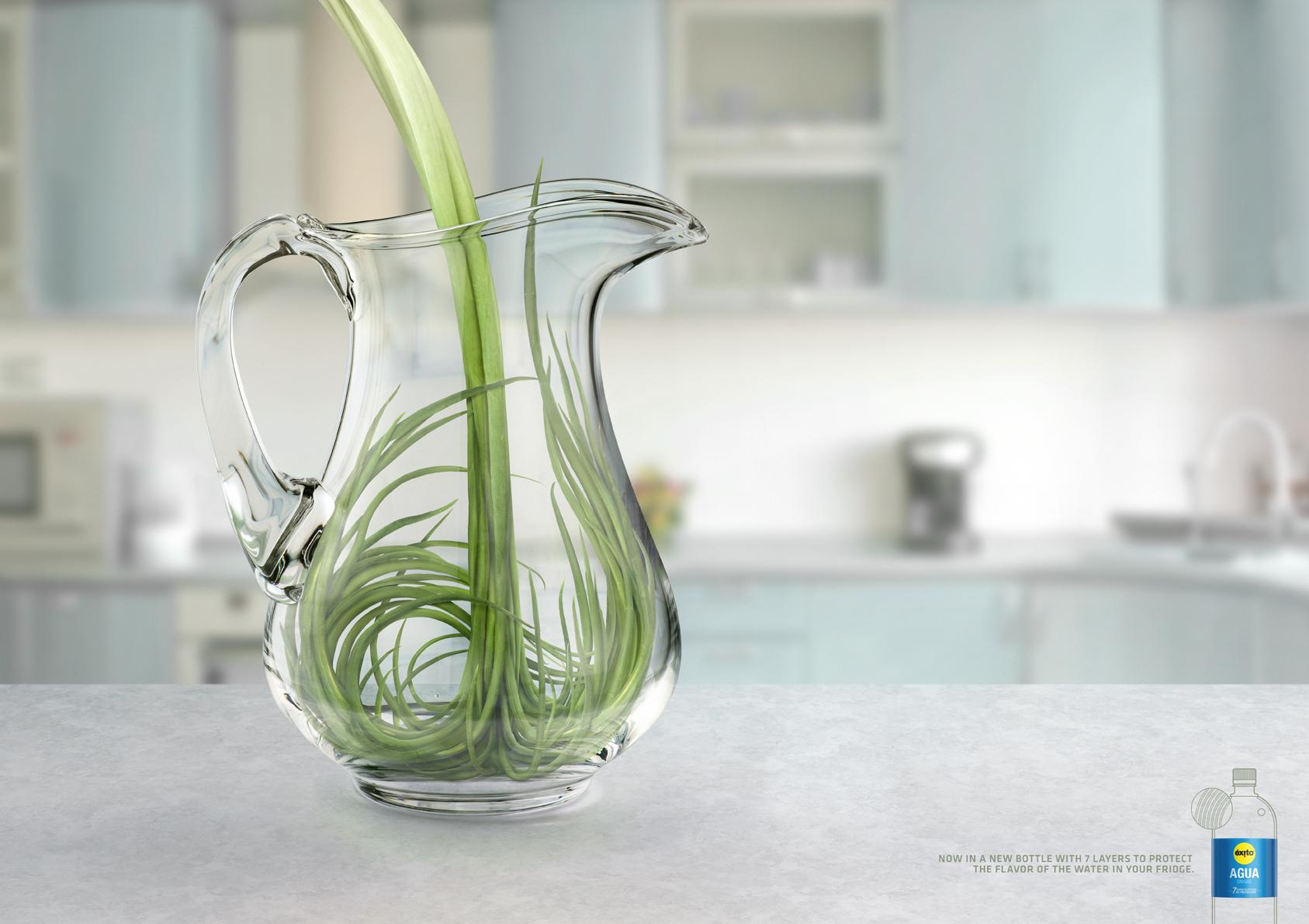 Éxito Print Ad -  Green Onion
