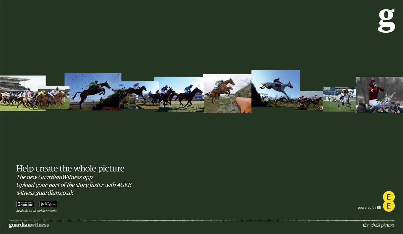 Guardian Print Ad -  Horse Race