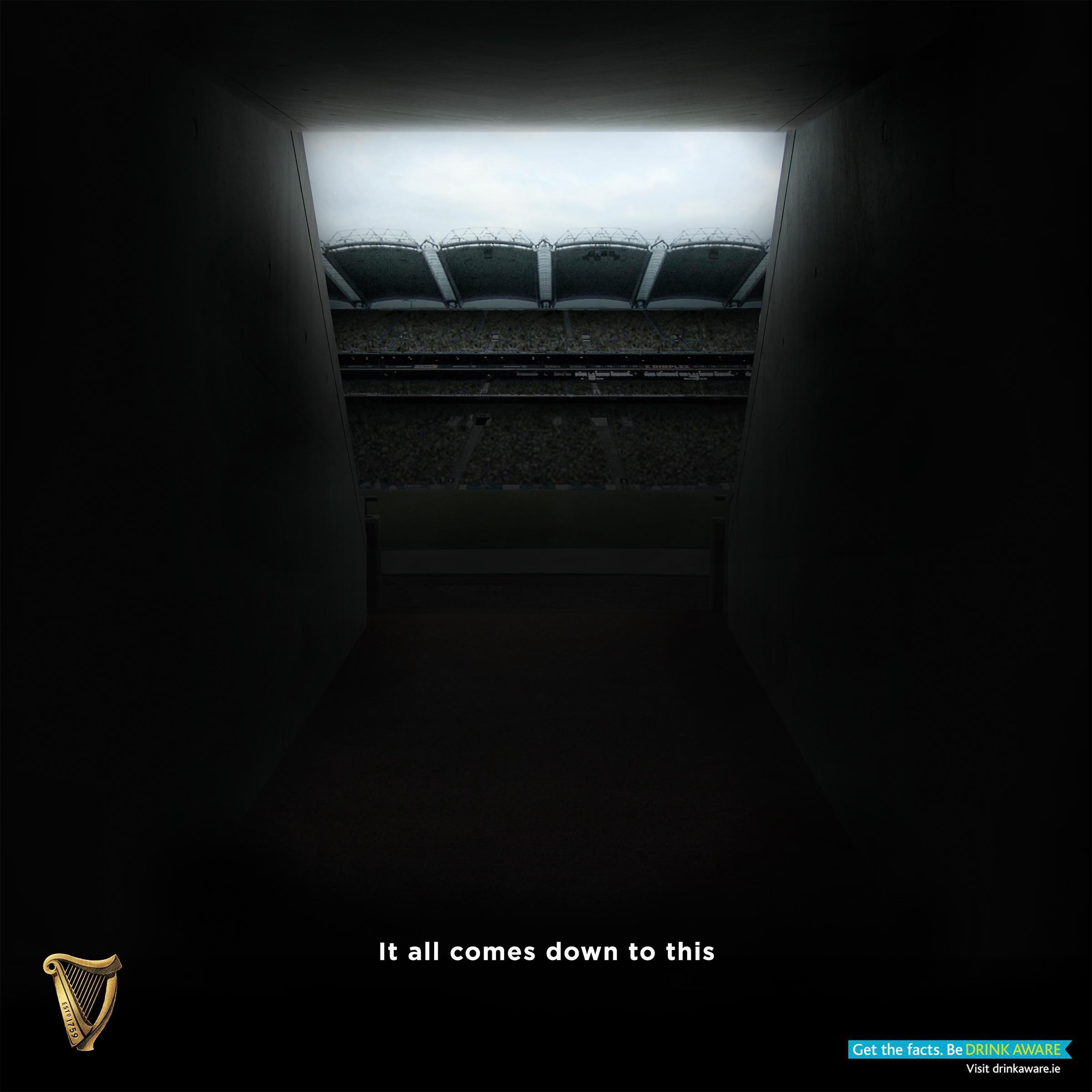 Guinness Print Ad - Croke Park Tunnel