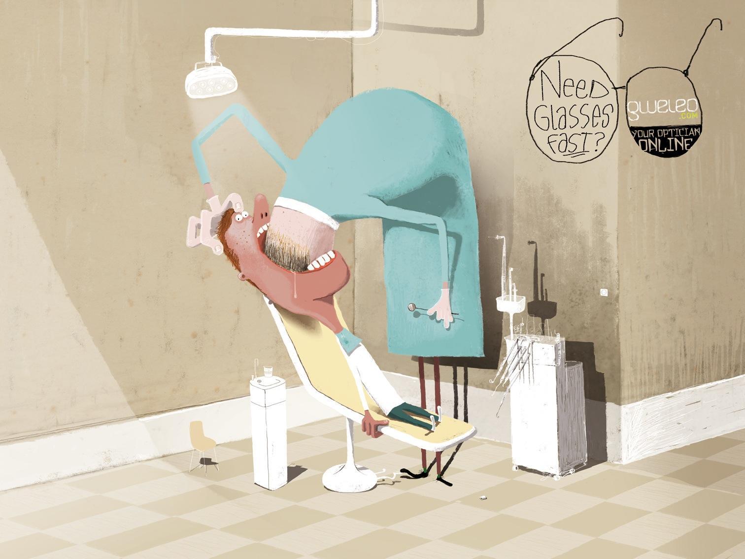 Gweleo.com Print Ad -  Dentist