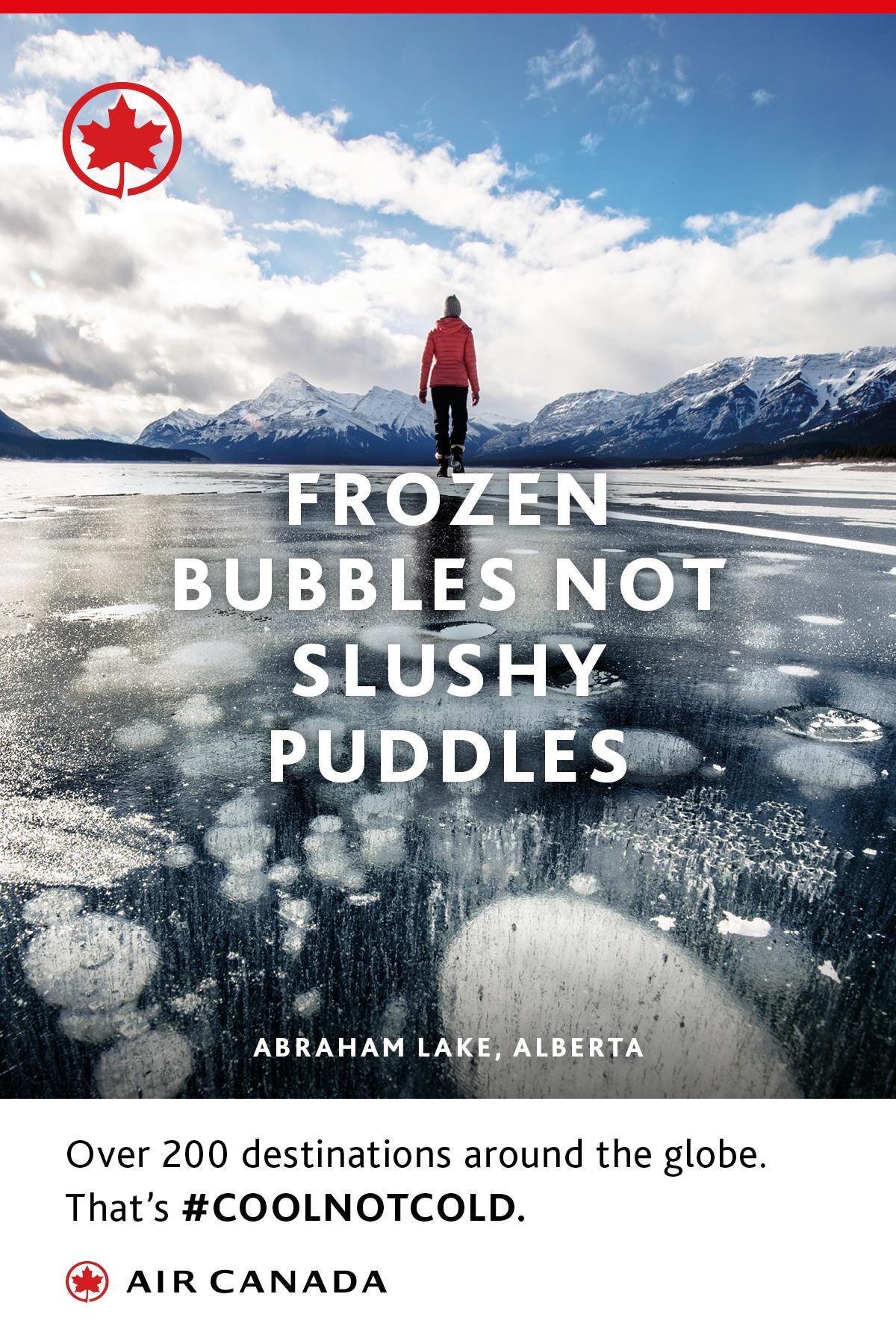 Air Canada Outdoor Ad - Frozen