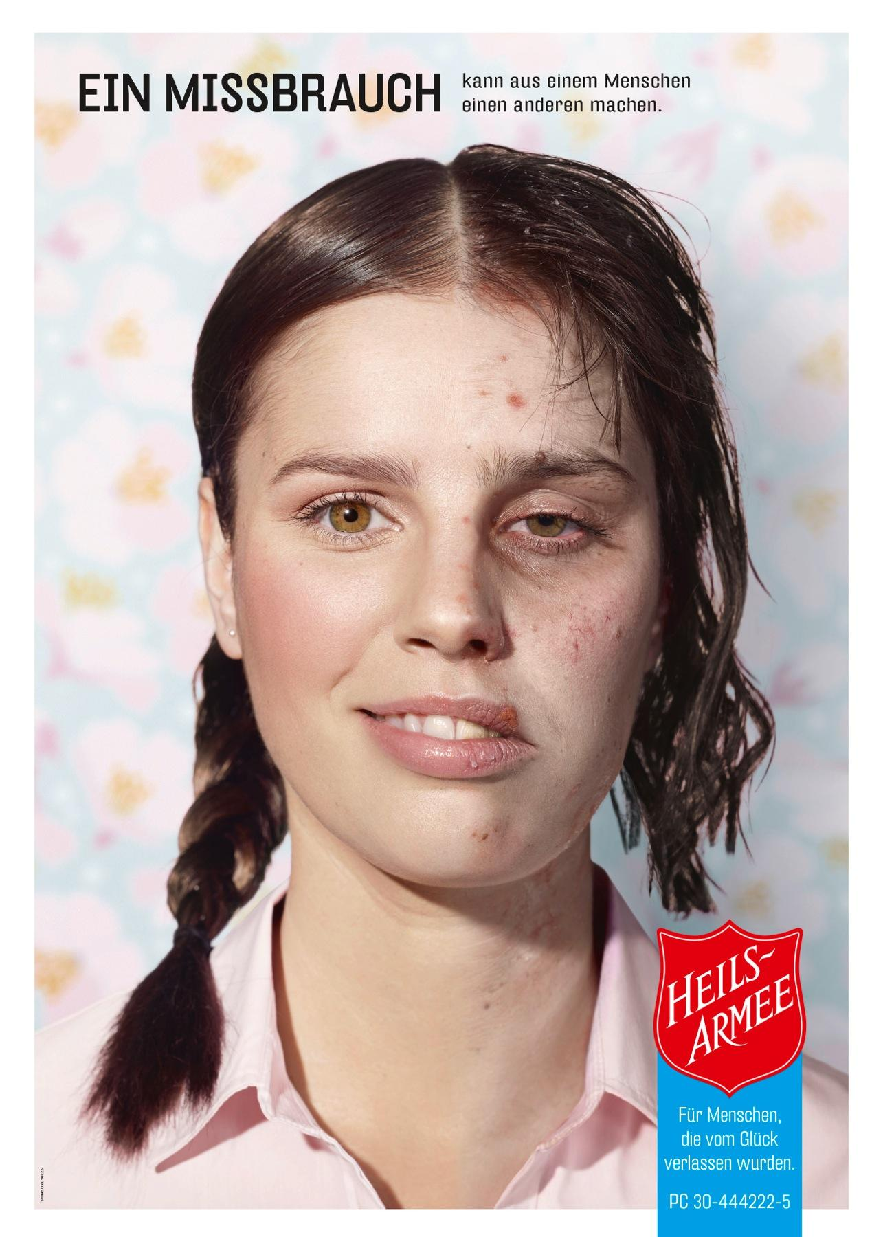 Salvation Army Print Ad -  Abuse