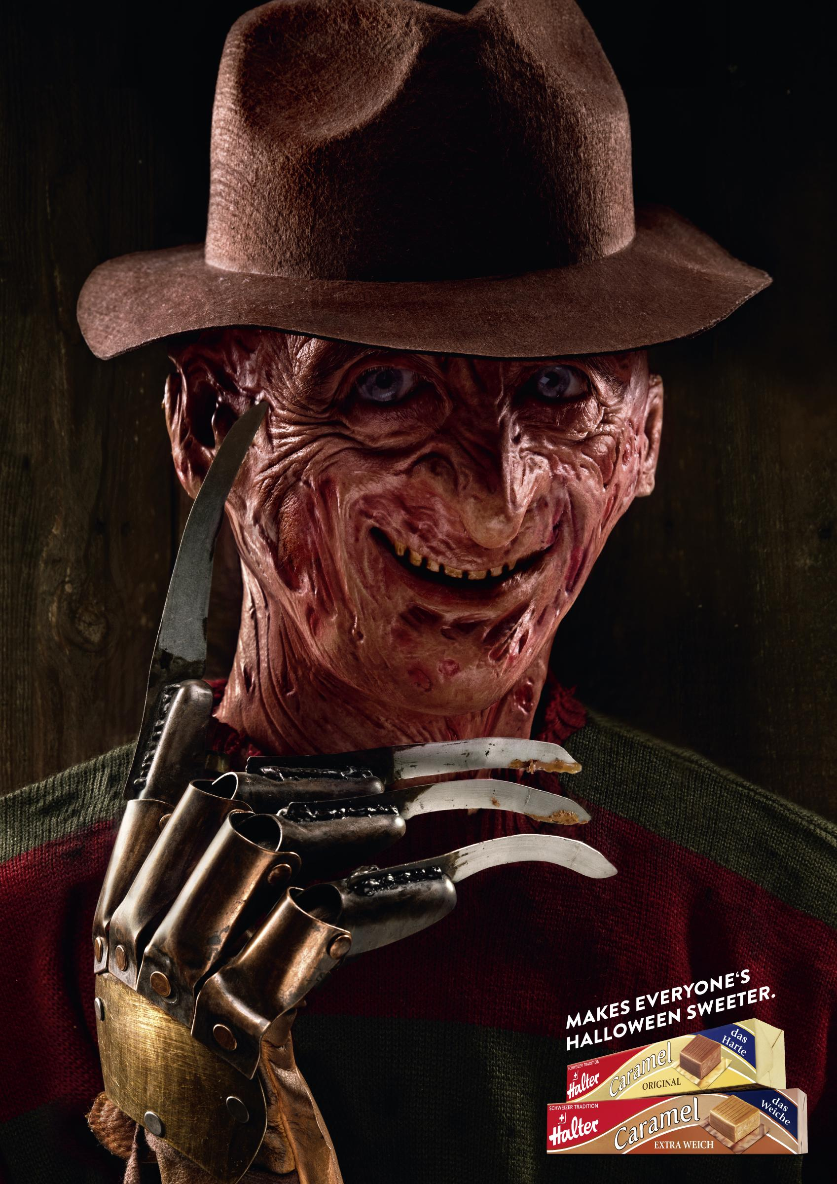 Halter Bonbons Print Ad - Halloween - Freddy
