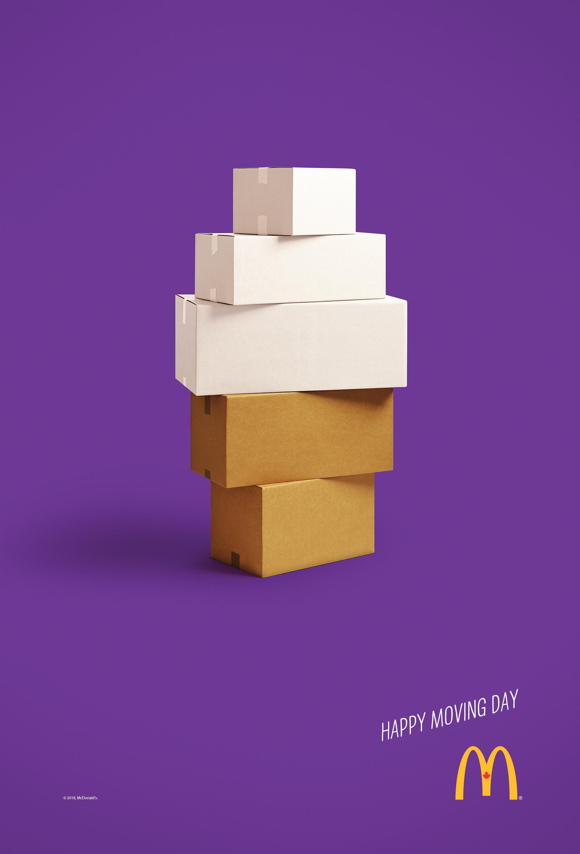 McDonald's Print Ad - Happy Moving Day - Ice Cream