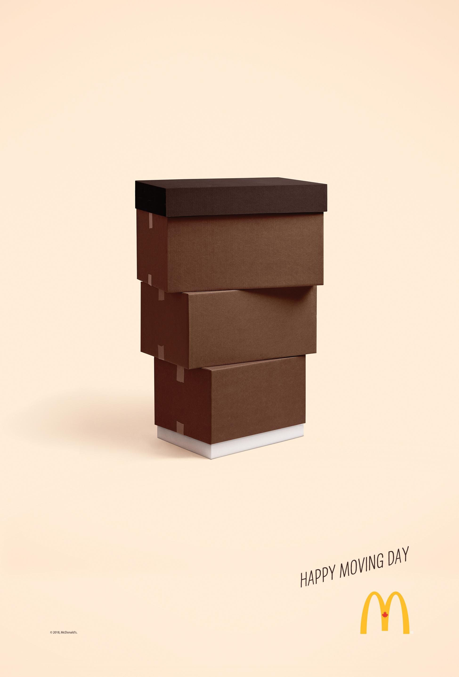 McDonald's Print Ad - Happy Moving Day - McCafe