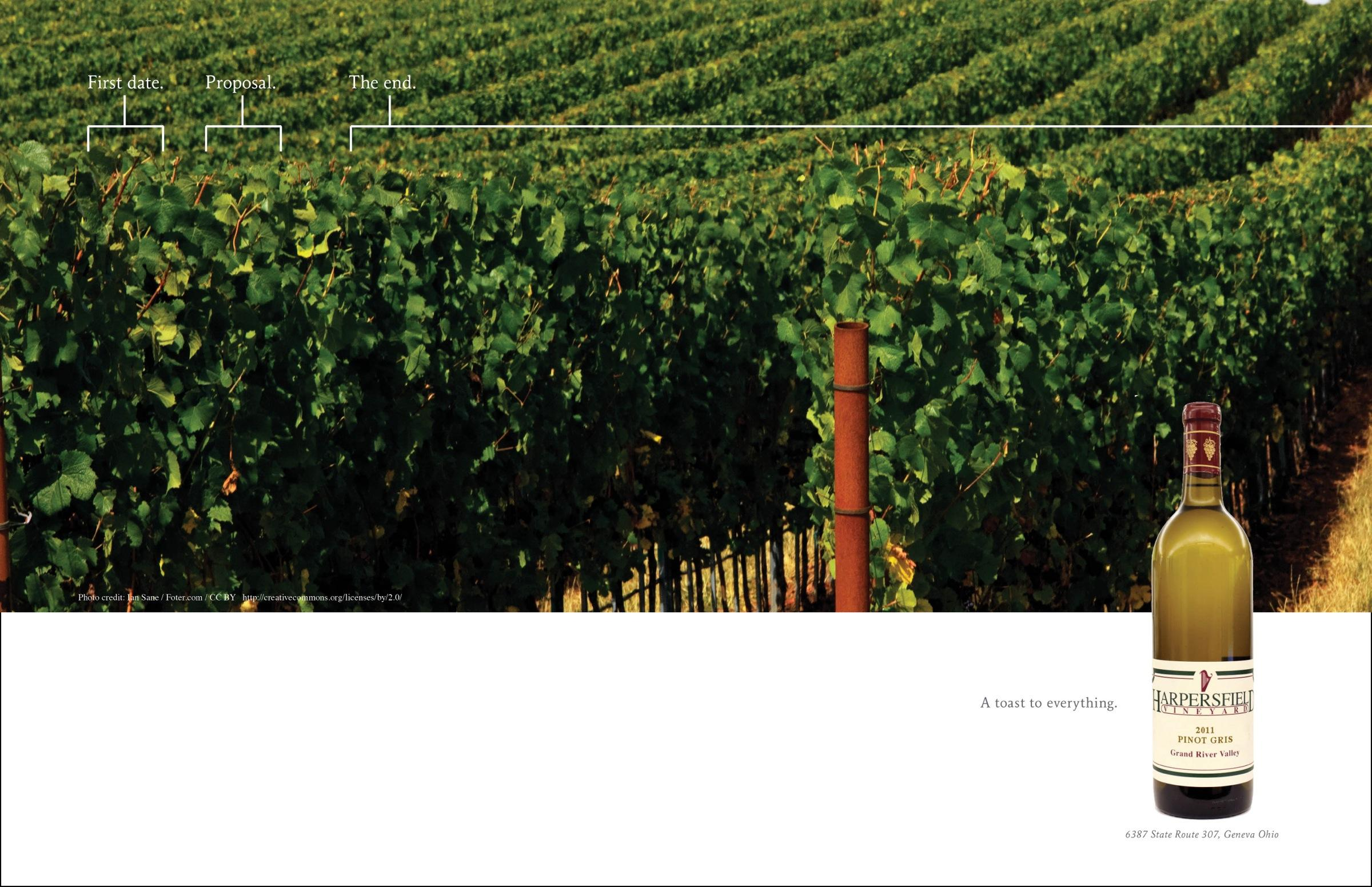 Harpersfield Winery Print Ad -  The end